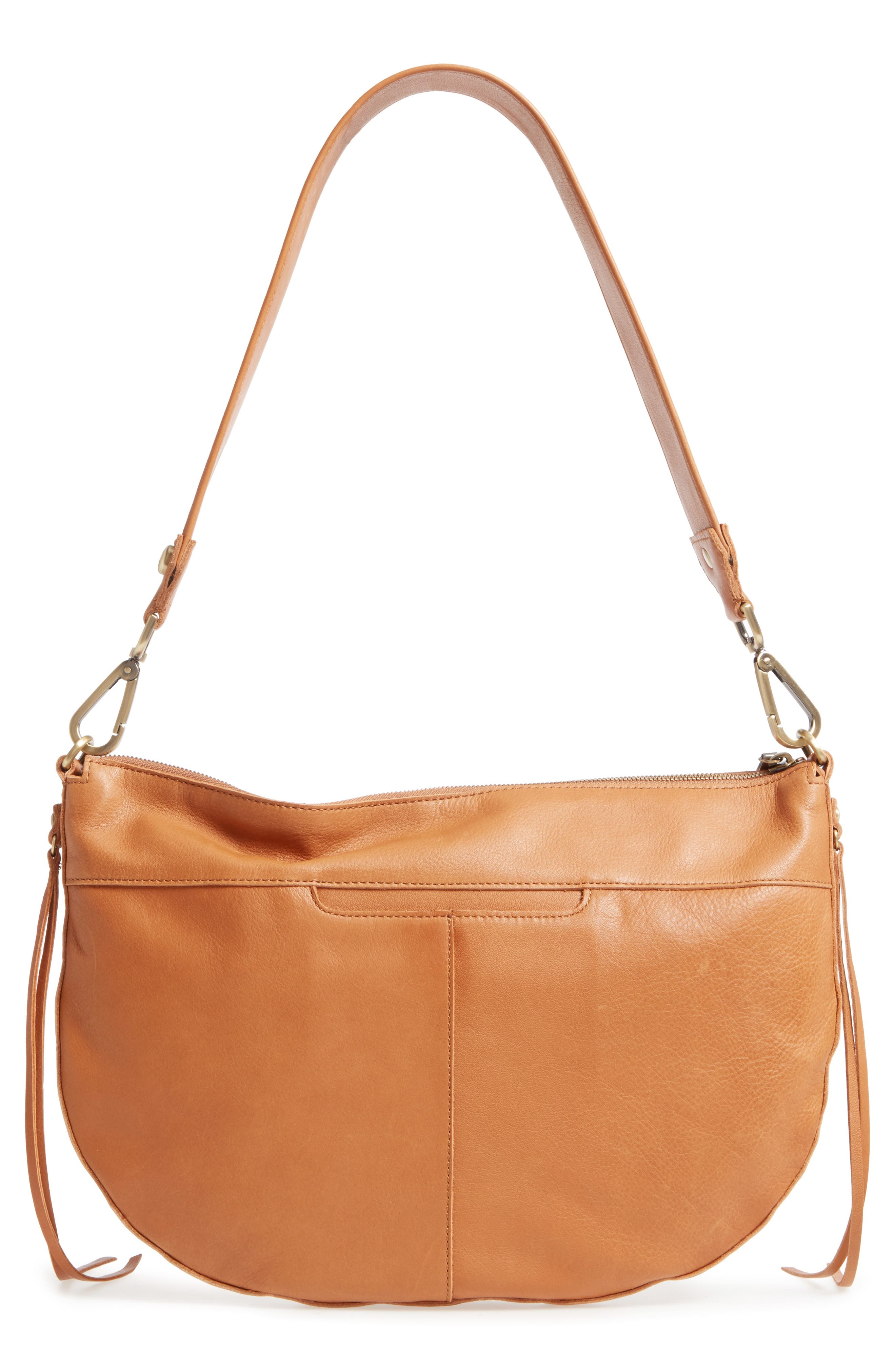 Cisco Calfskin Leather Hobo Bag,                             Alternate thumbnail 2, color,                             Natural
