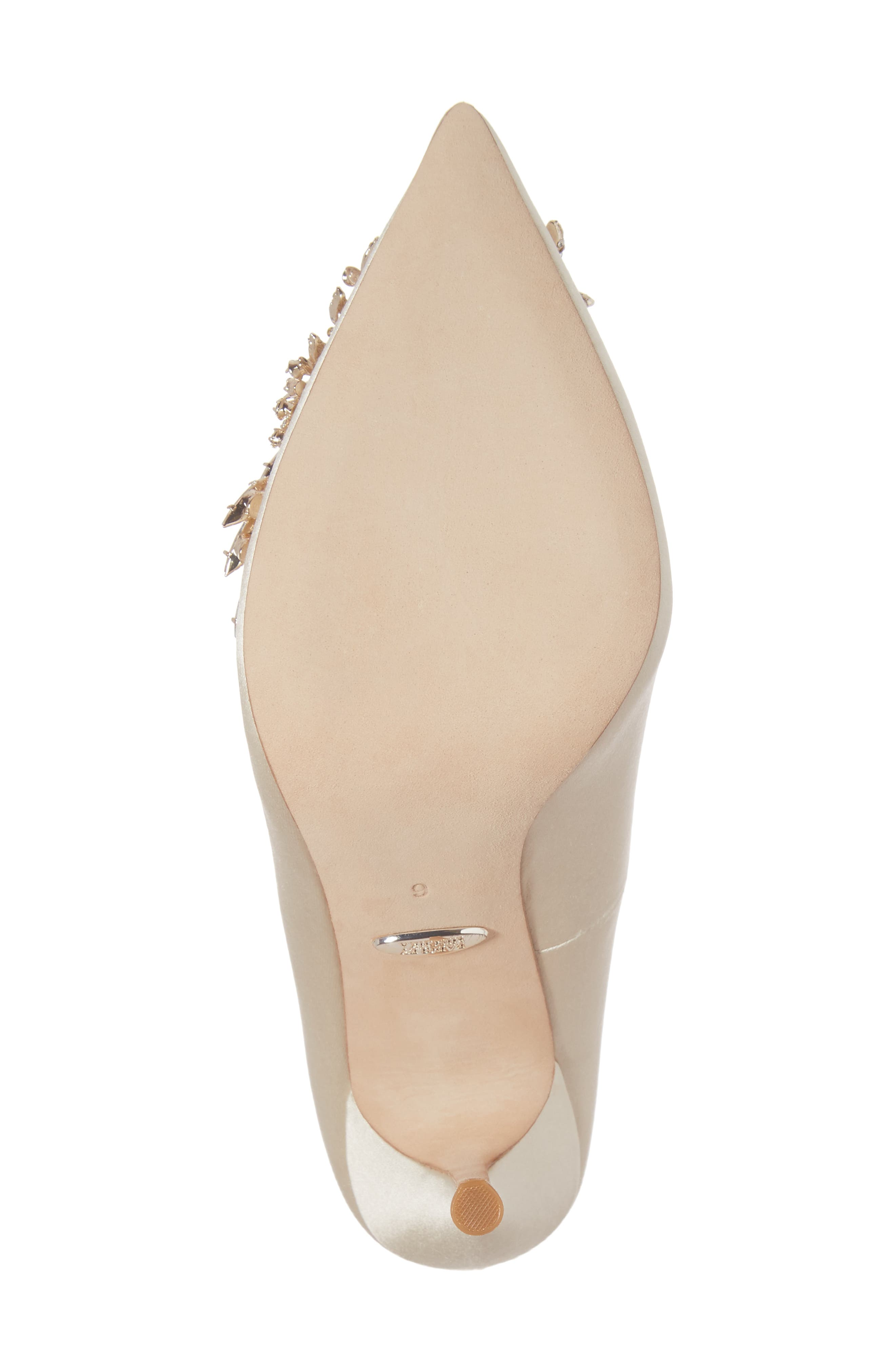 Marcela Pointy Toe Pump,                             Alternate thumbnail 6, color,                             Ivory Satin