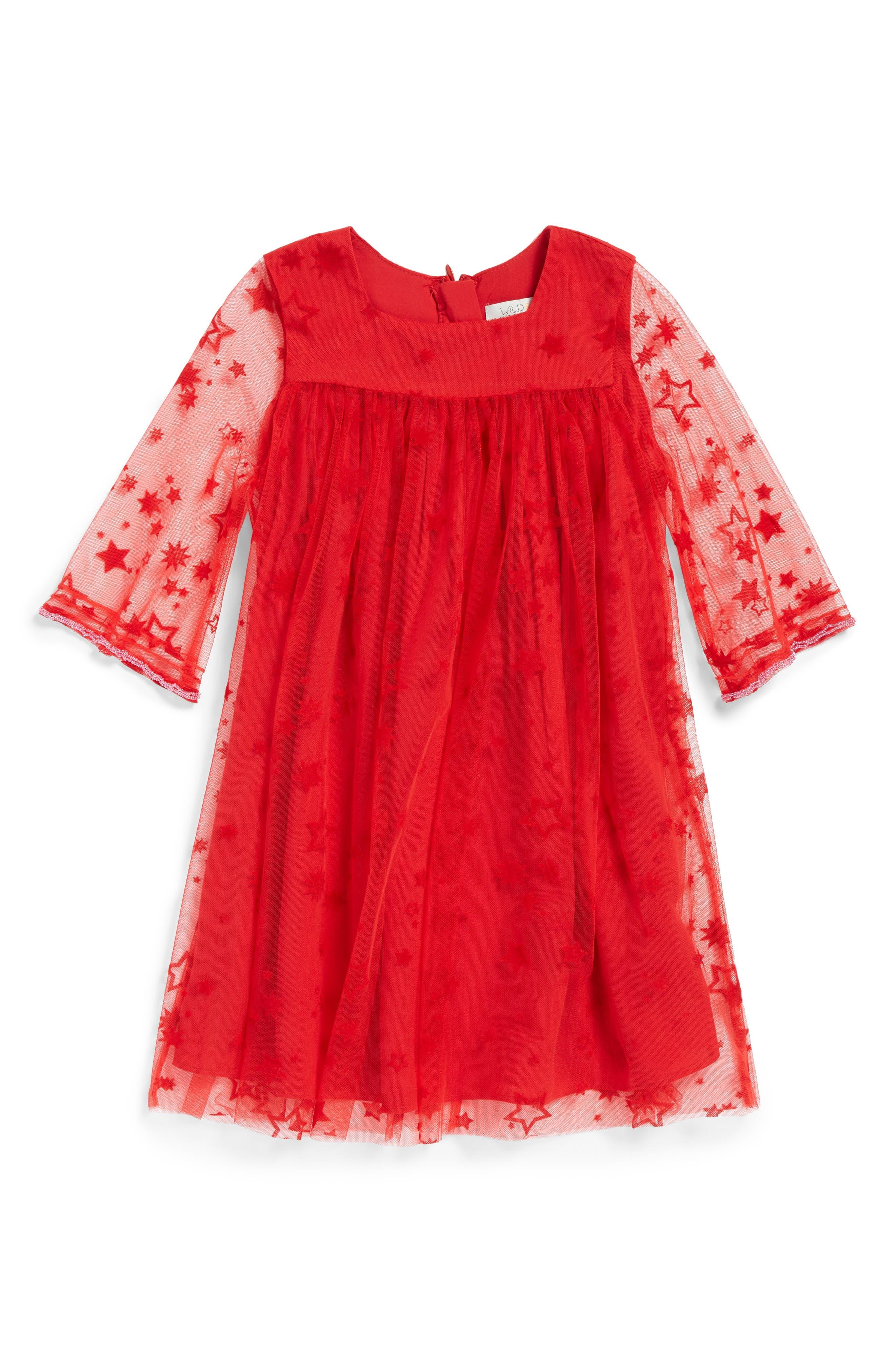 Zodiac Dress,                         Main,                         color, Red