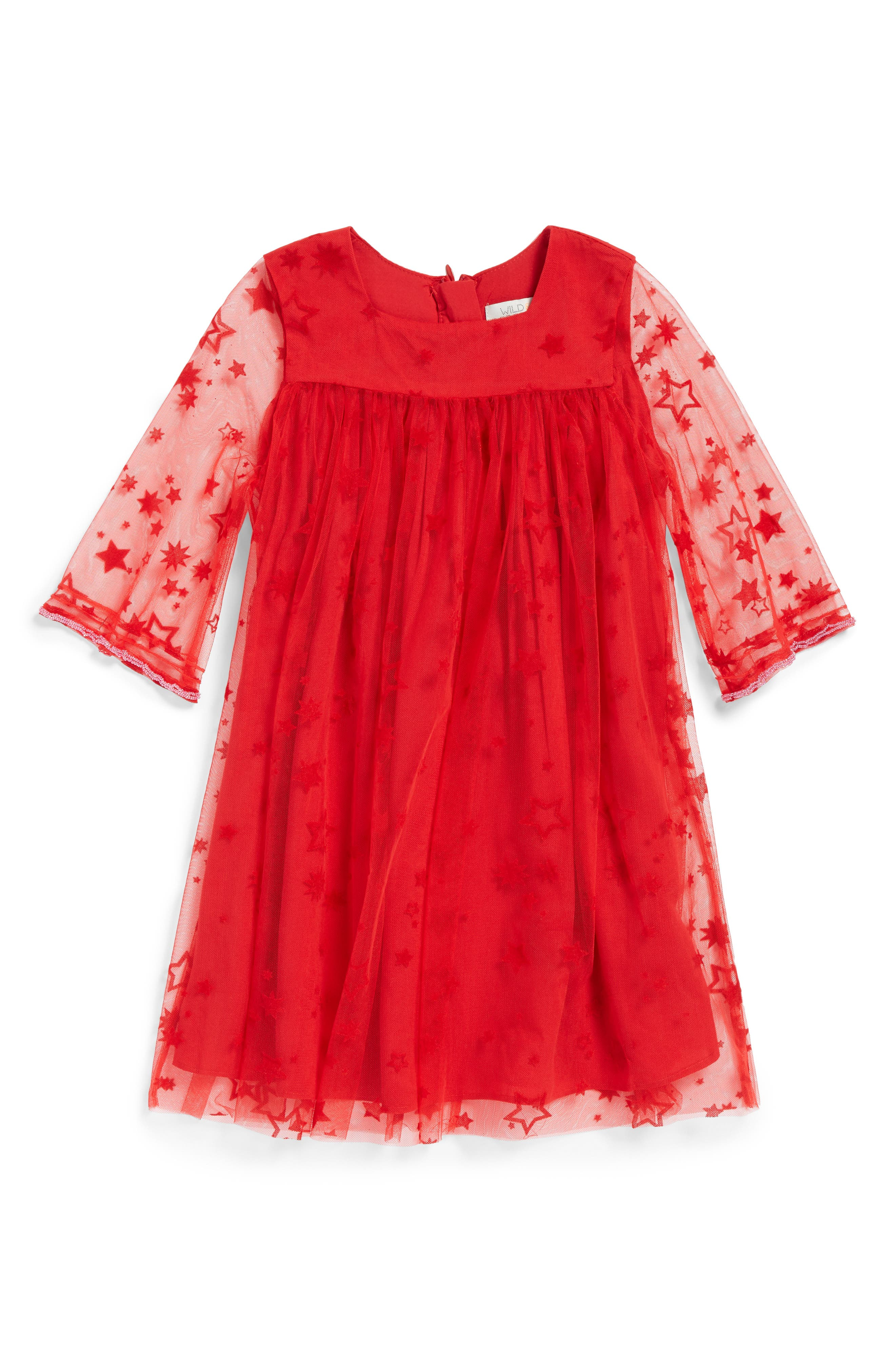 Wild & Gorgeous Zodiac Dress (Toddler Girls, Little Girls & Big Girls)