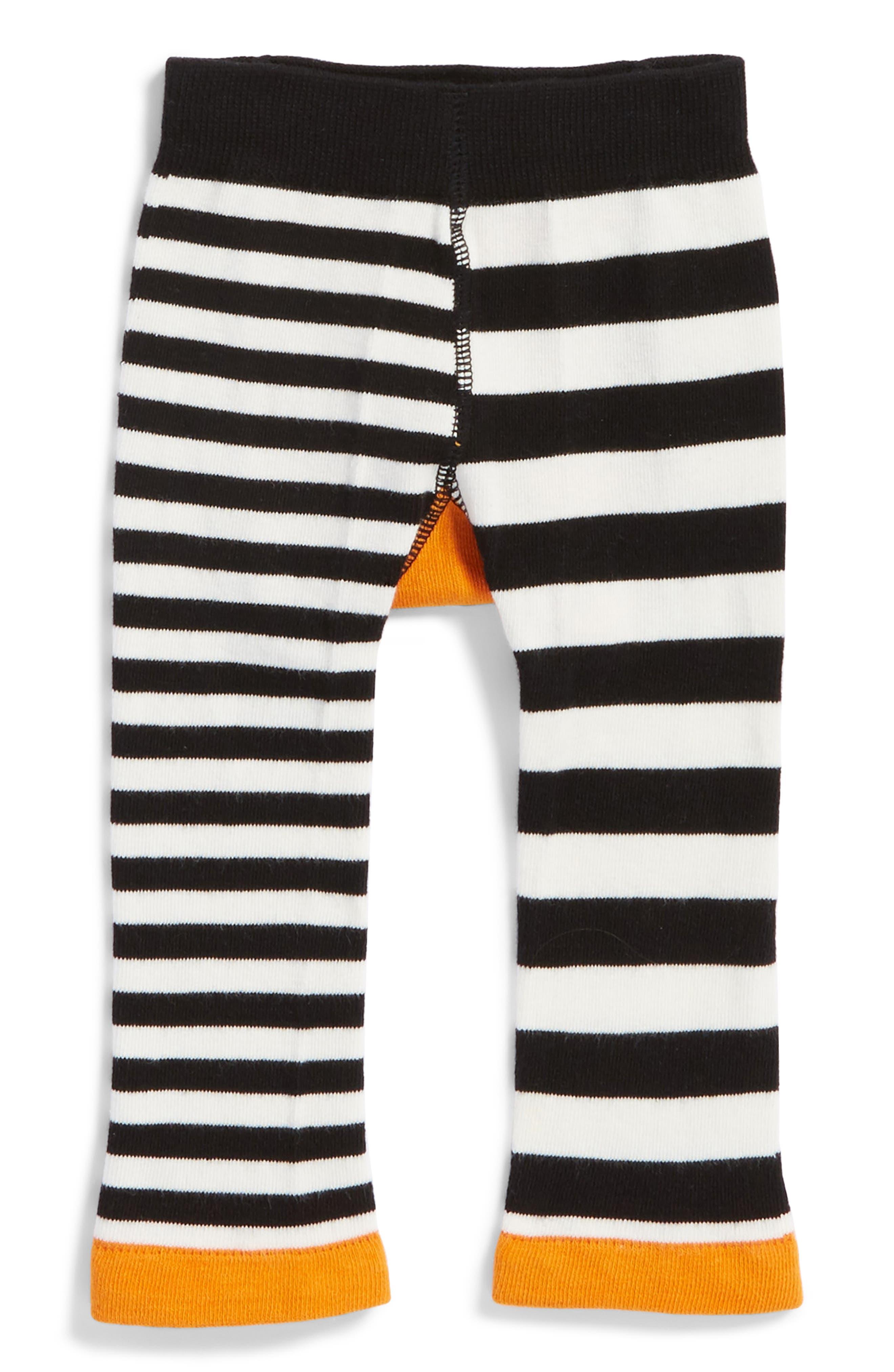 Fox Leggings,                             Alternate thumbnail 2, color,                             Orange/ Black/ Cream