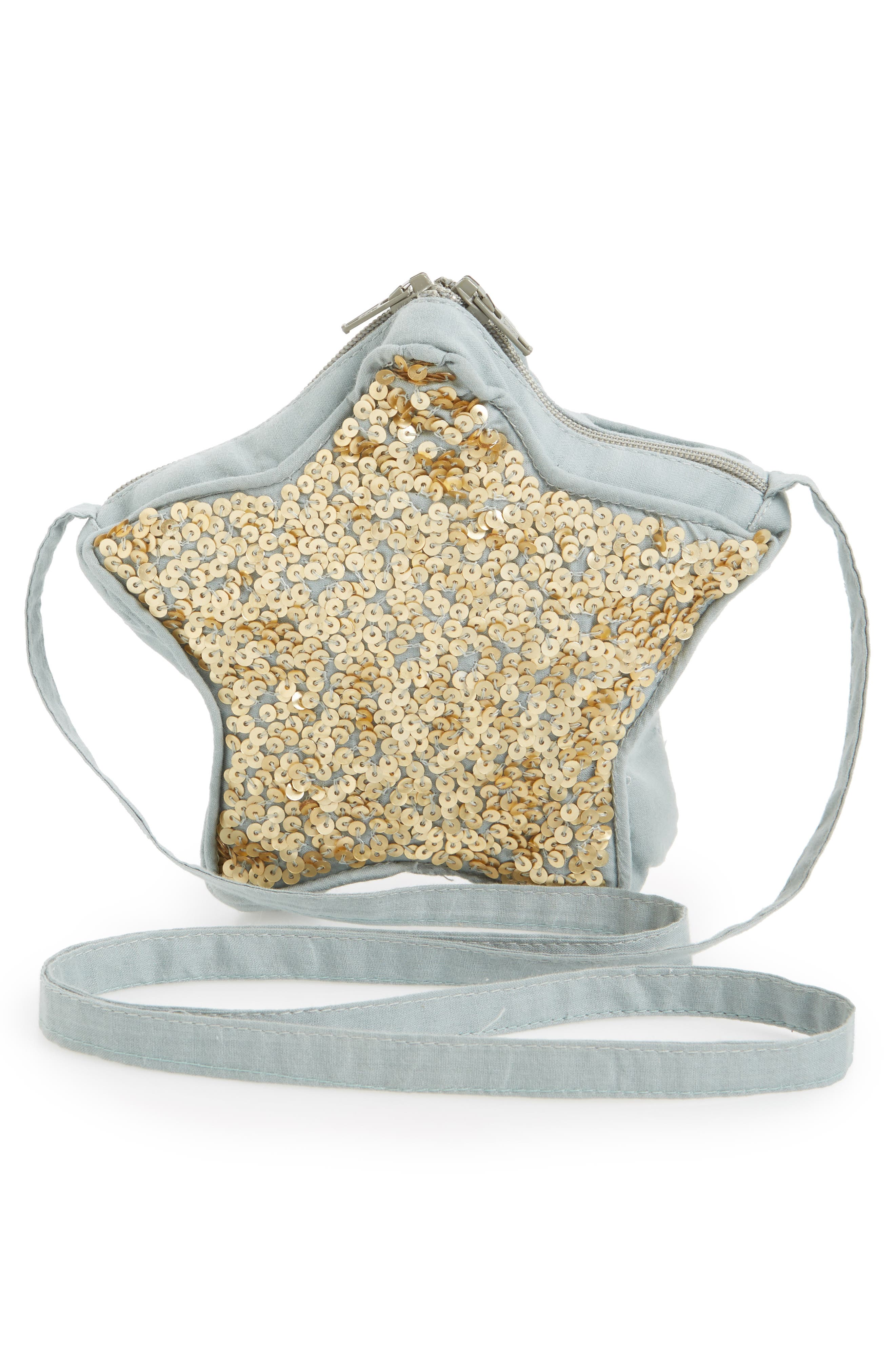 Wild and Gorgeous Sequin Star Bag,                             Alternate thumbnail 2, color,                             Grey