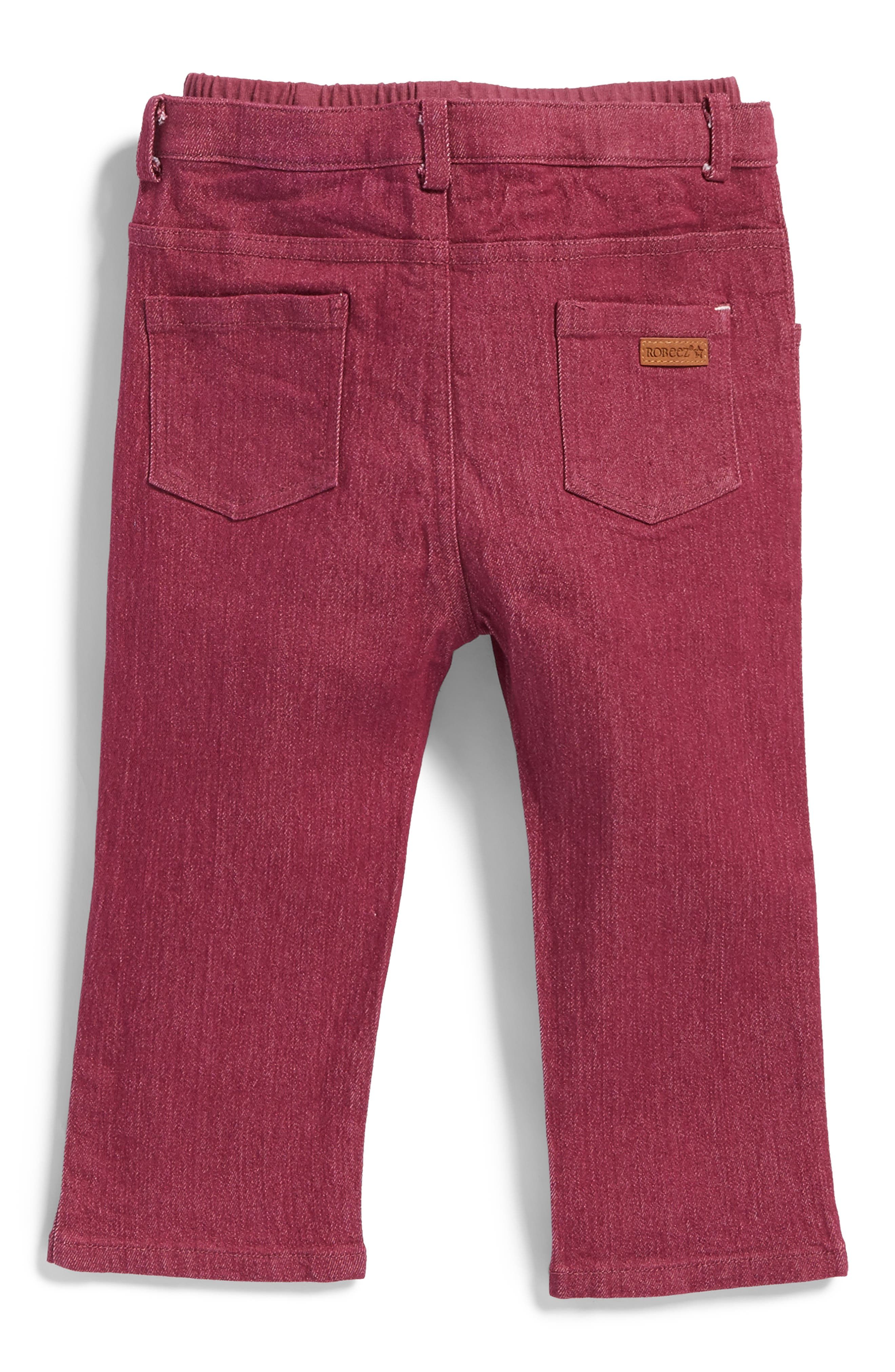 Soft Jeans,                             Alternate thumbnail 2, color,                             Maroon