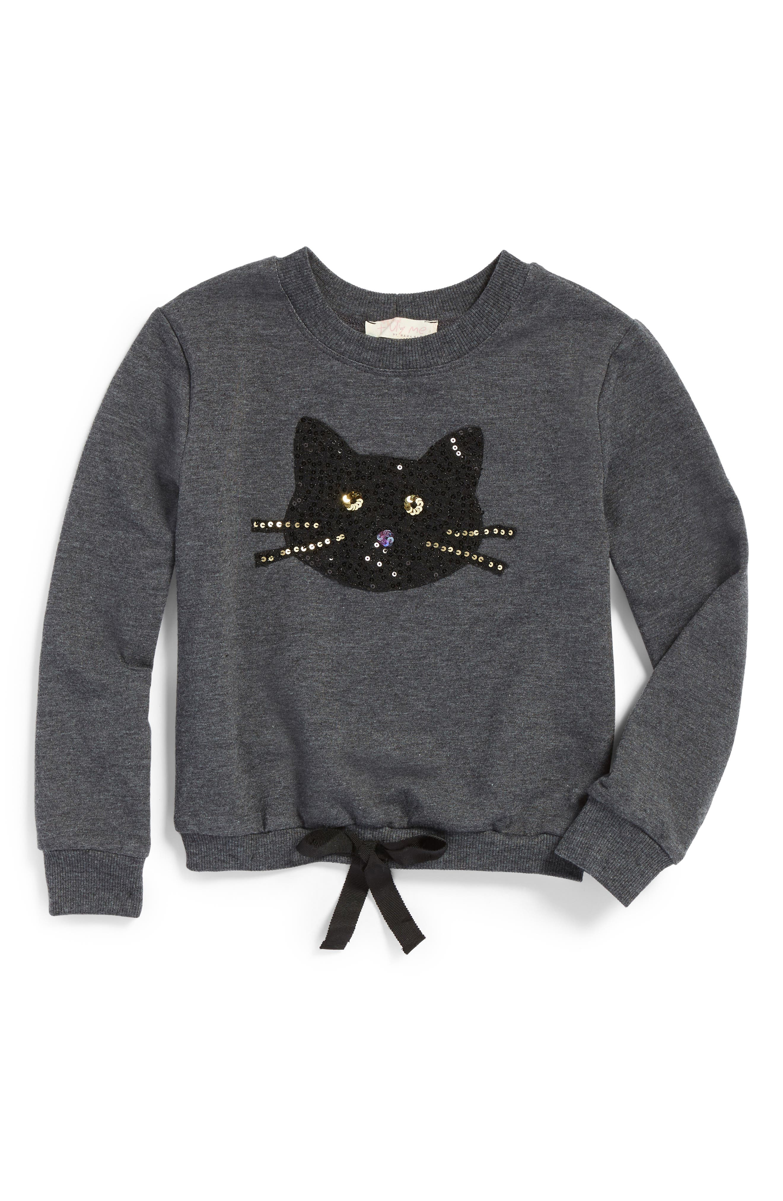 Truly Me Sequin Kitty Sweatshirt (Toddler Girls & Little Girls)