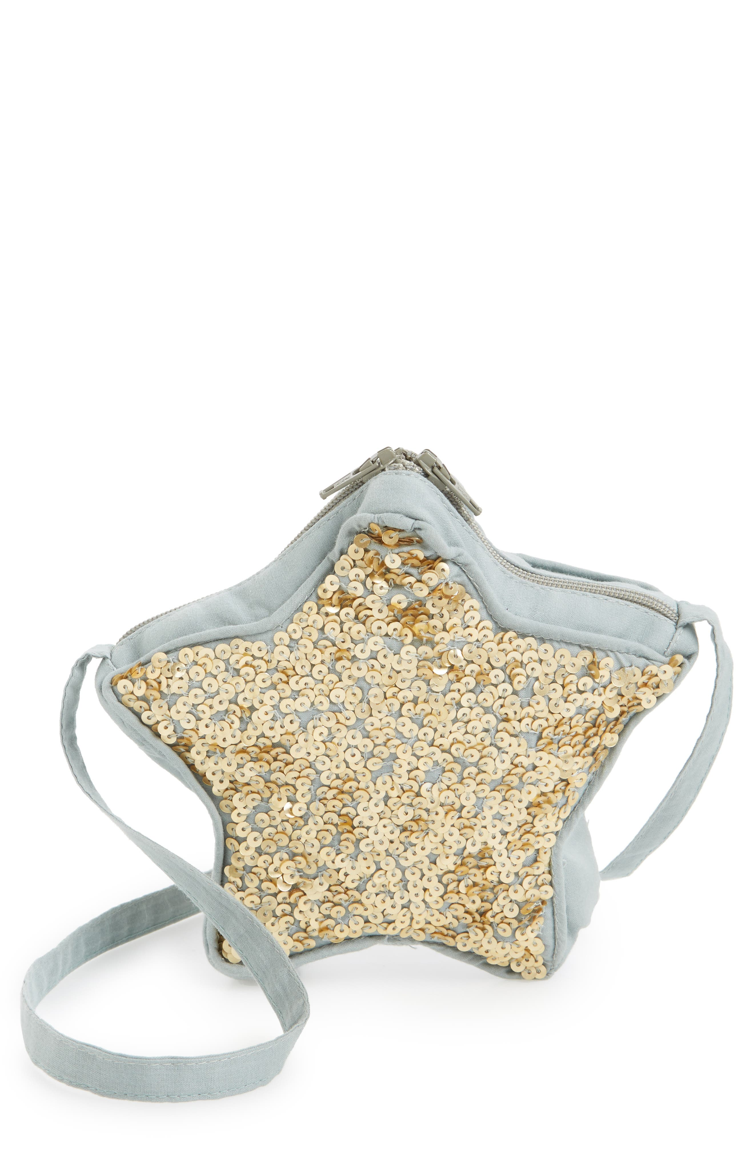 Wild and Gorgeous Sequin Star Bag,                             Main thumbnail 1, color,                             Grey