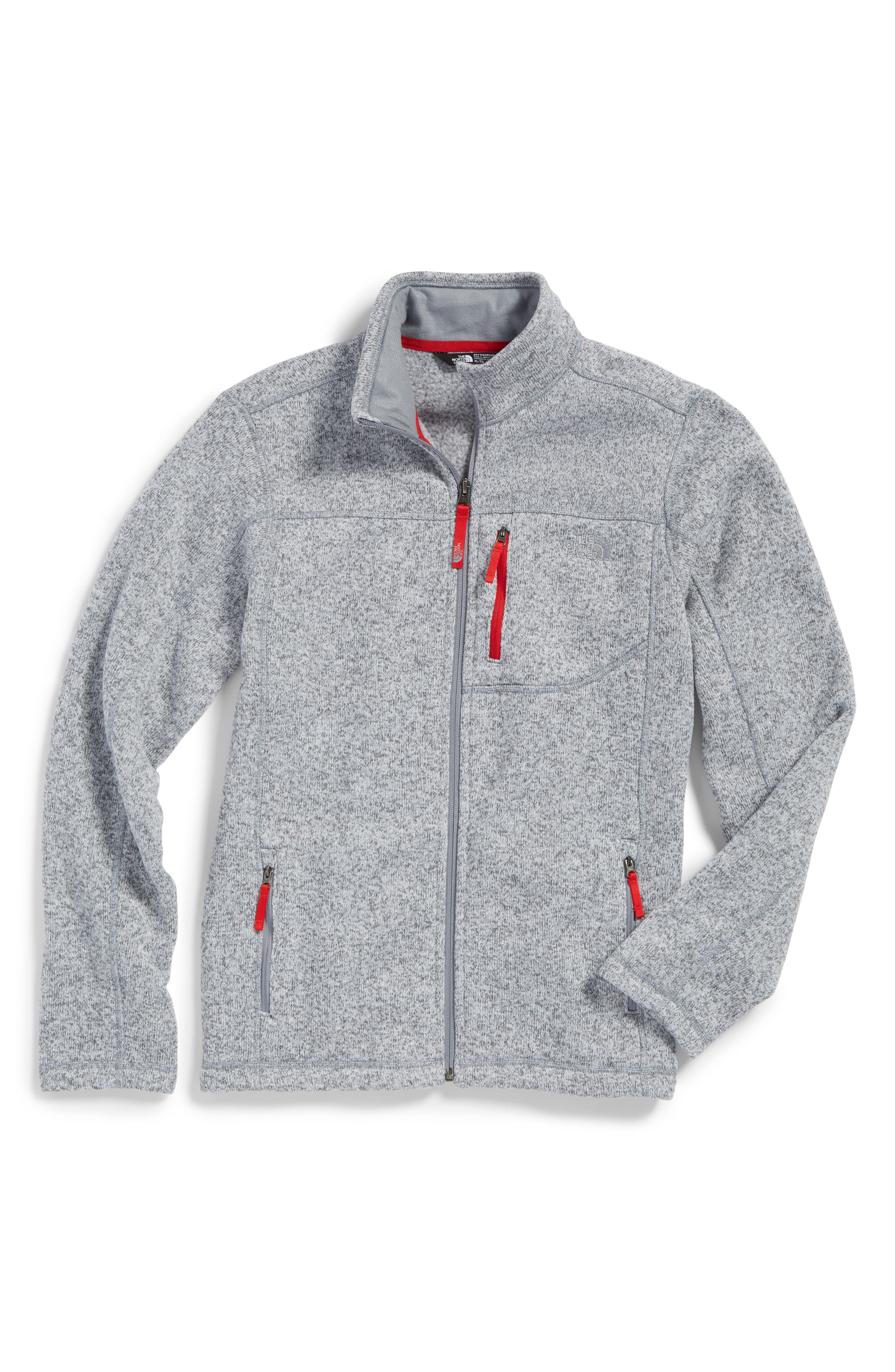 Main Image - The North Face Gordon Lyons Sweater Fleece Zip Jacket (Big Boys)
