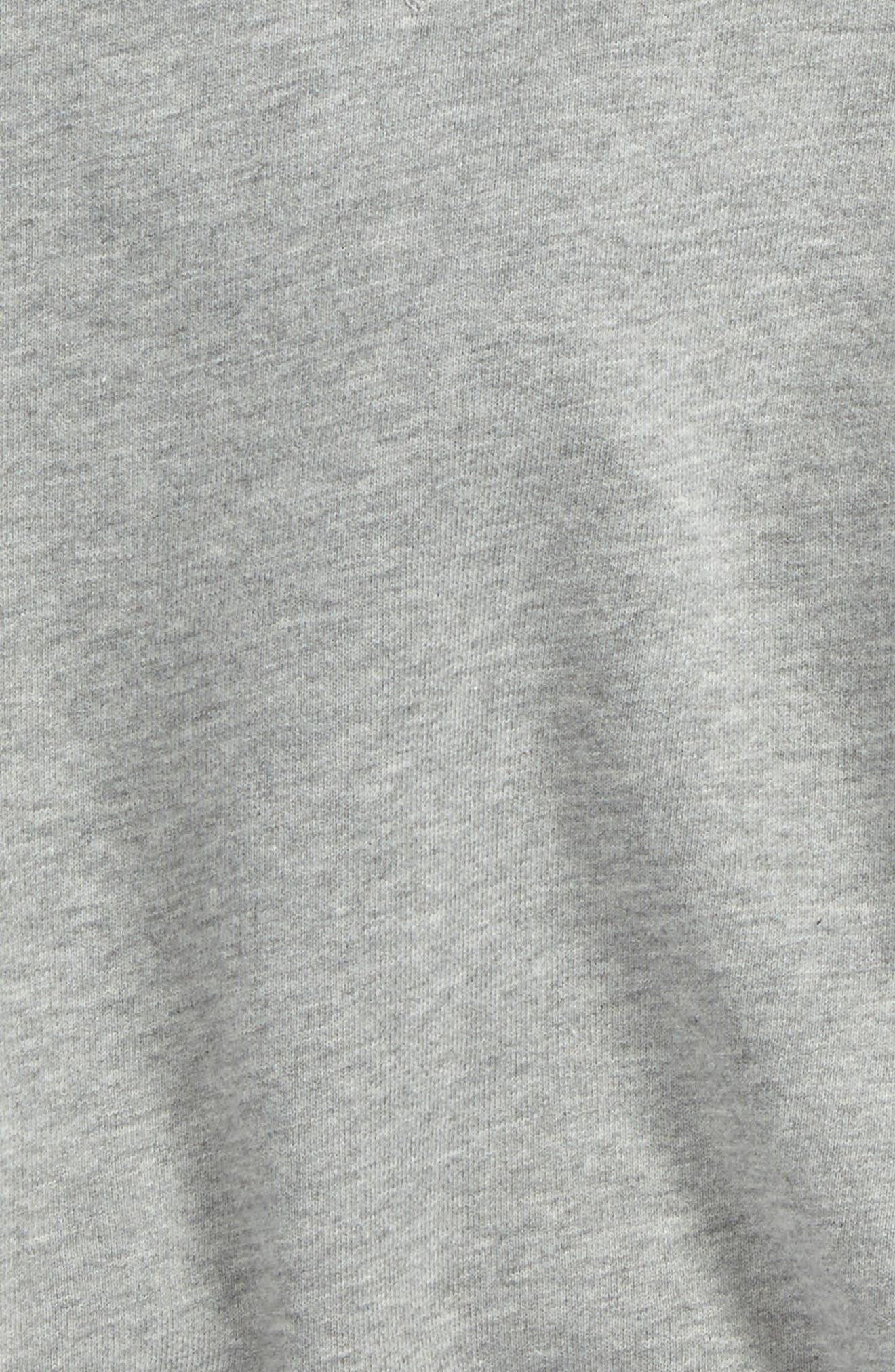 Mini Neiman Ruffle Sweatshirt,                             Alternate thumbnail 3, color,                             Grey Melange