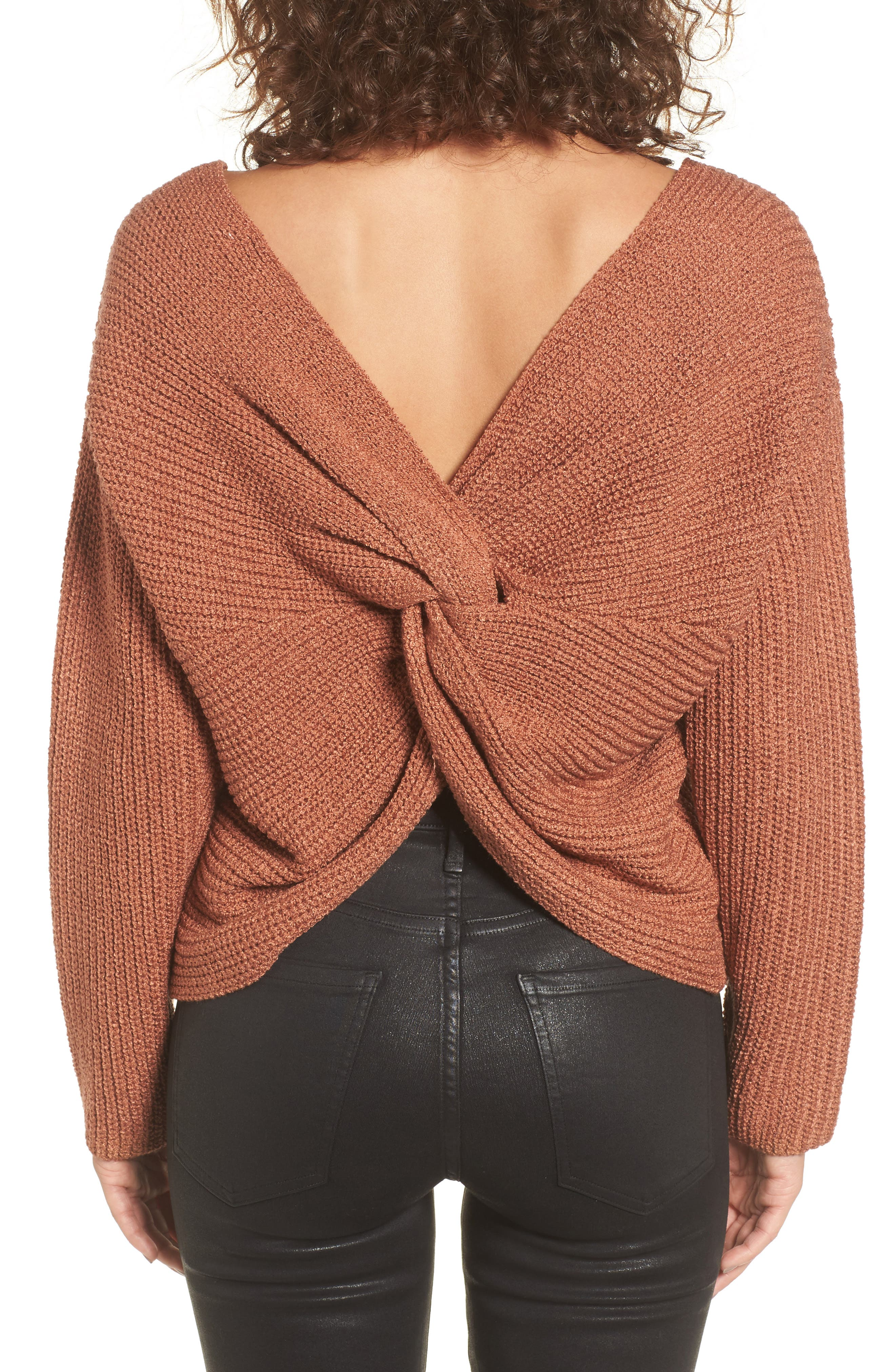 Alternate Image 1 Selected - ASTR the Label Twist Back Sweater