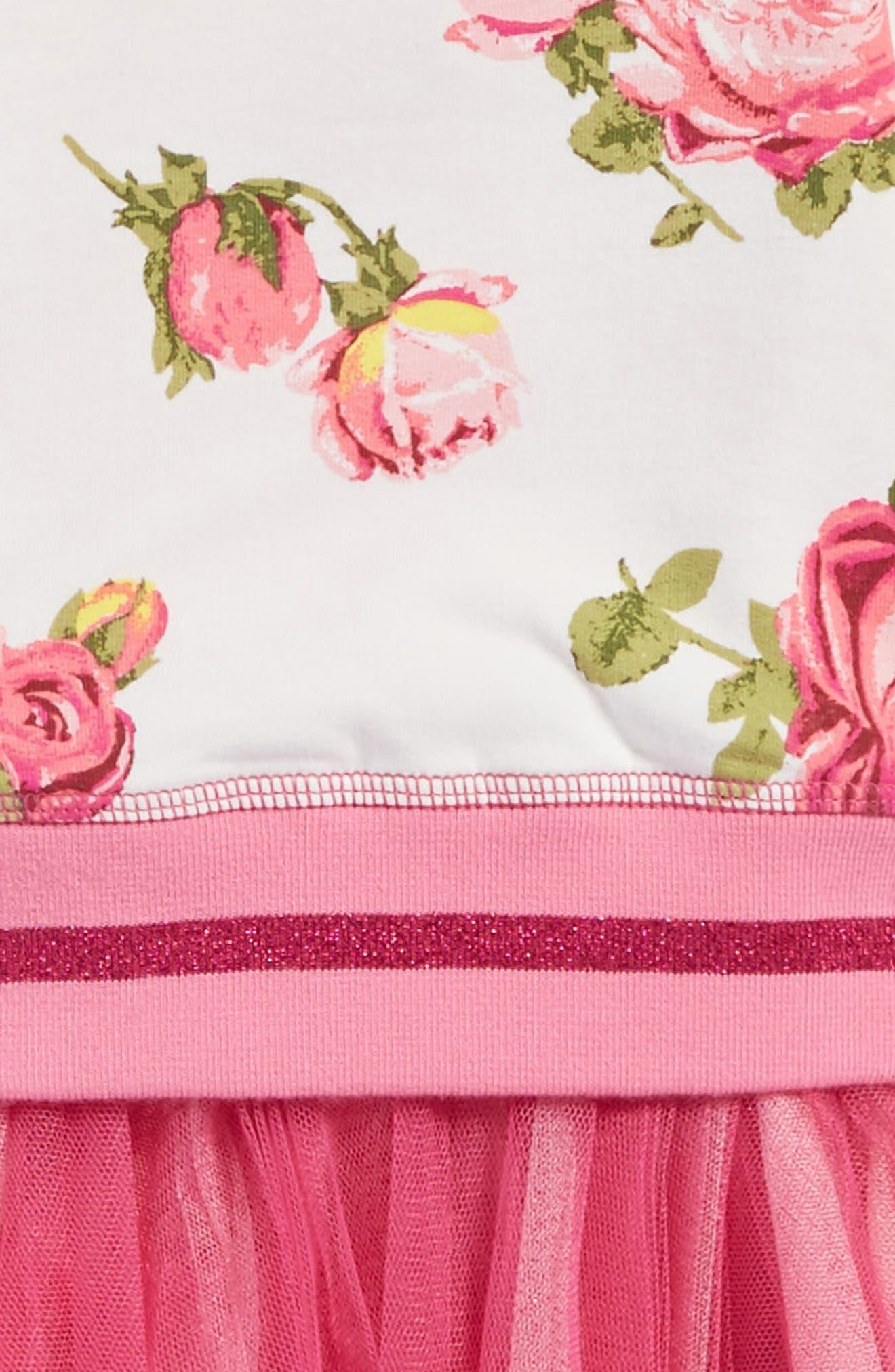 Floral Print Sweatshirt Tutu Dress,                             Alternate thumbnail 3, color,                             Multi