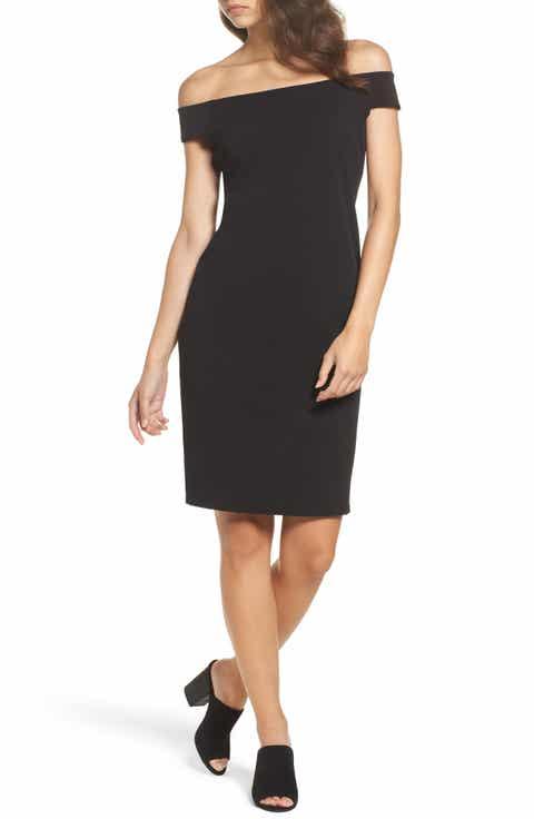 Eliza J Off The Shoulder Sheath Dress Regular Petite