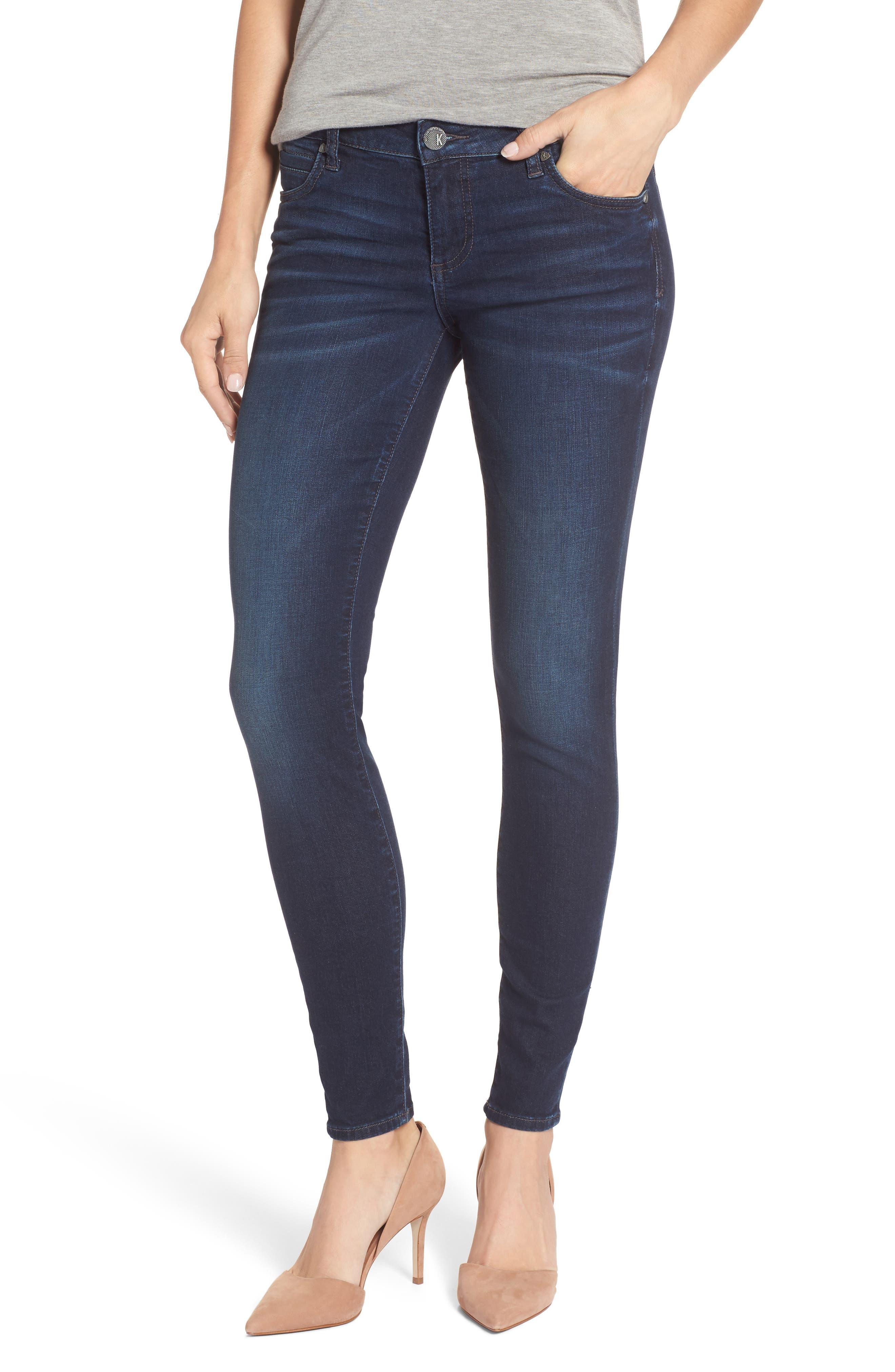 Kut from the Kloth Mia Toothpick Skinny Jeans (Hale/Dark Stone)