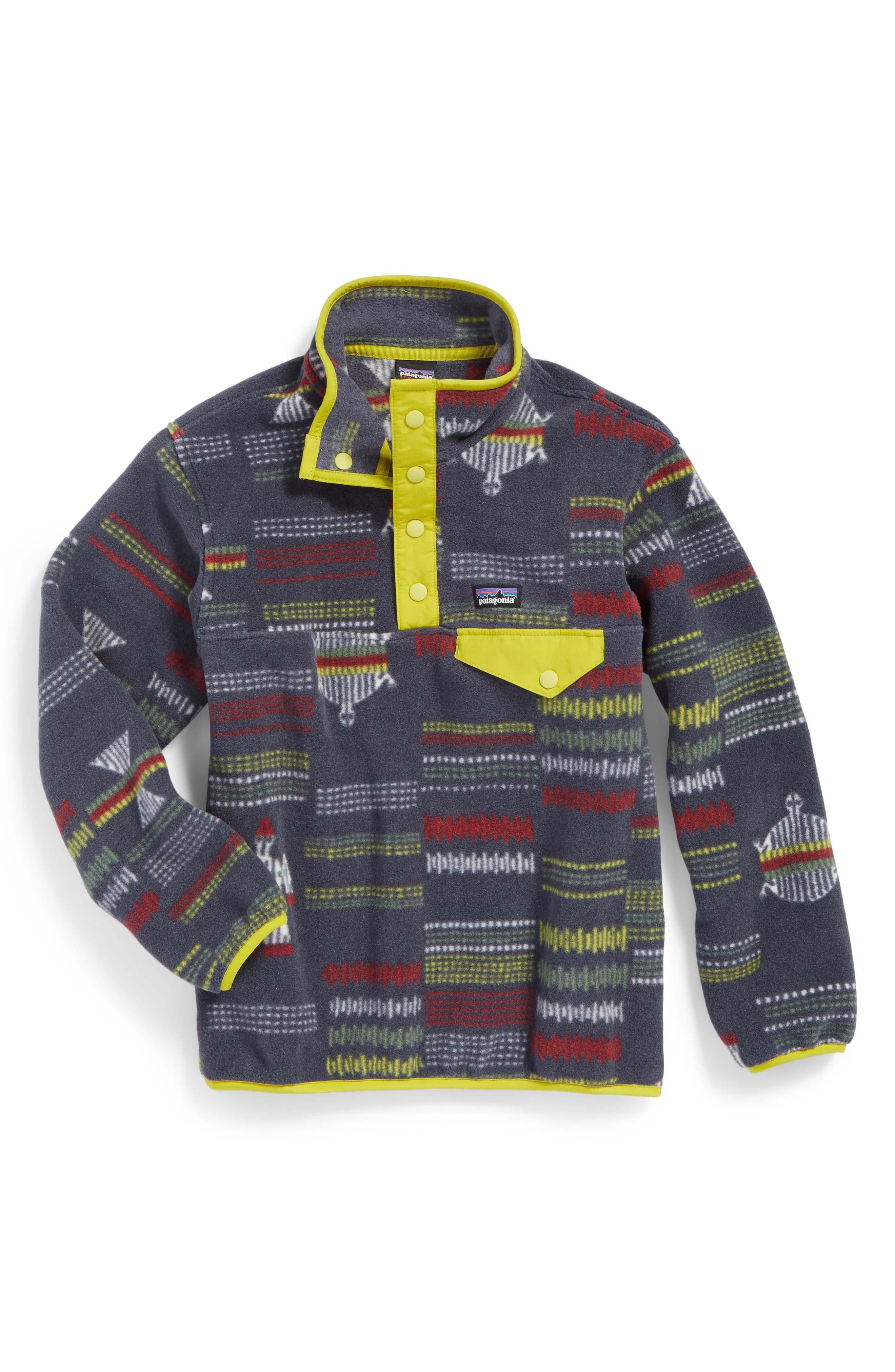 Synchilla<sup>®</sup> Snap-T<sup>®</sup> Fleece Pullover,                         Main,                         color, River Tribe/ Fluid Green