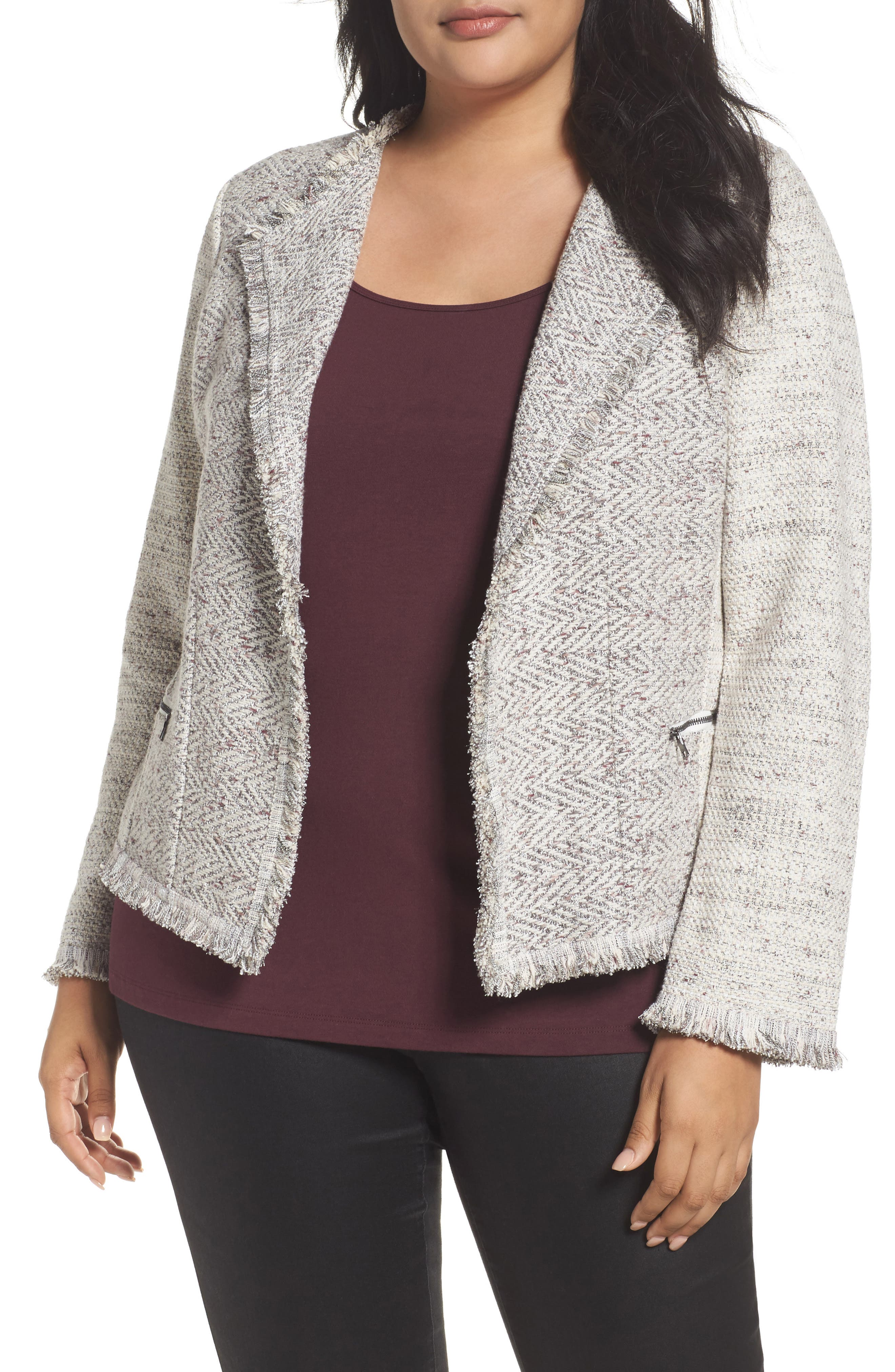 Main Image - NIC+ZOE Chilled Tweed Jacket (Plus Size)