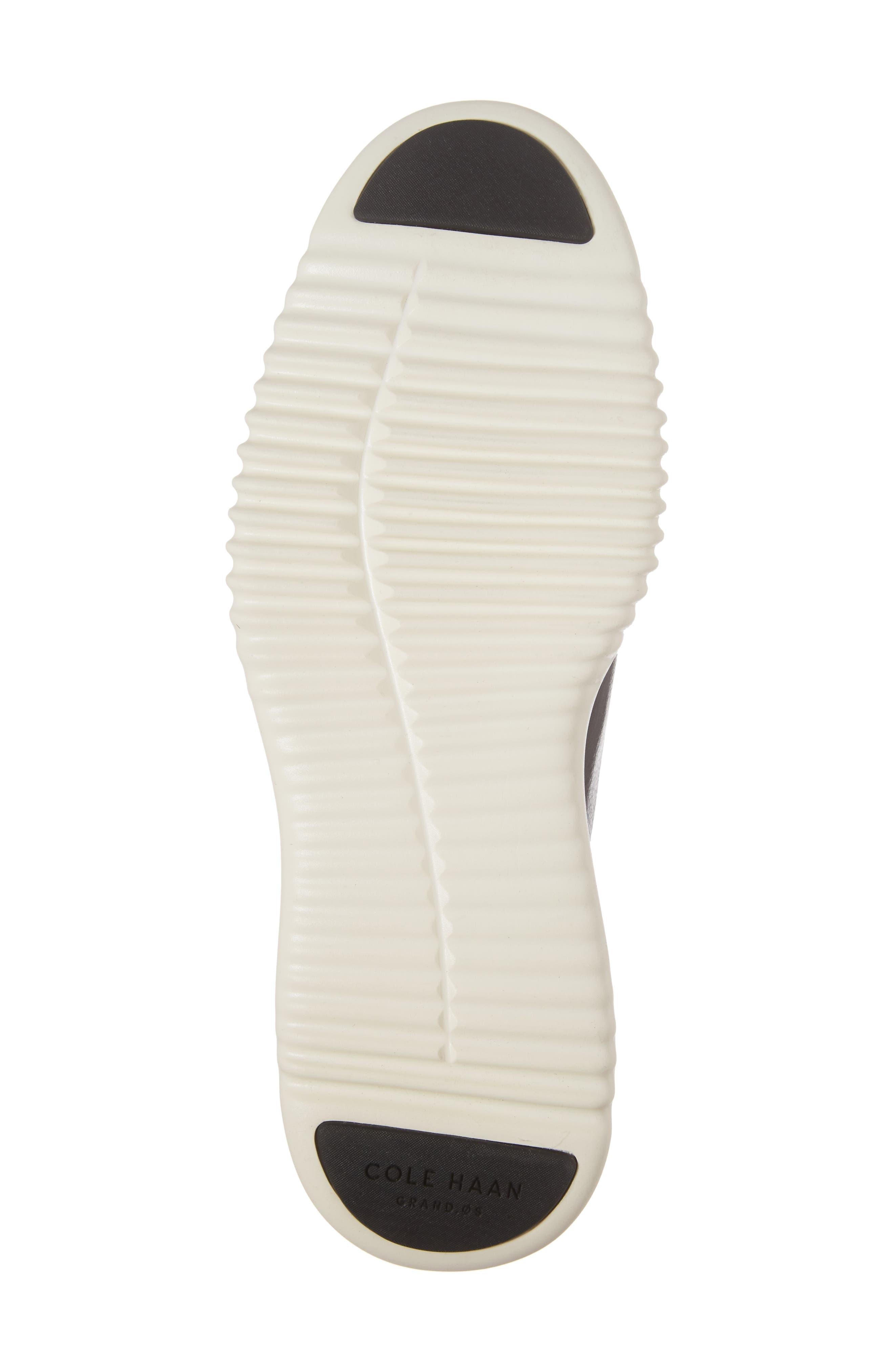 2.ZeroGrand Plain Toe Derby,                             Alternate thumbnail 6, color,                             Black/ Ivory Leather