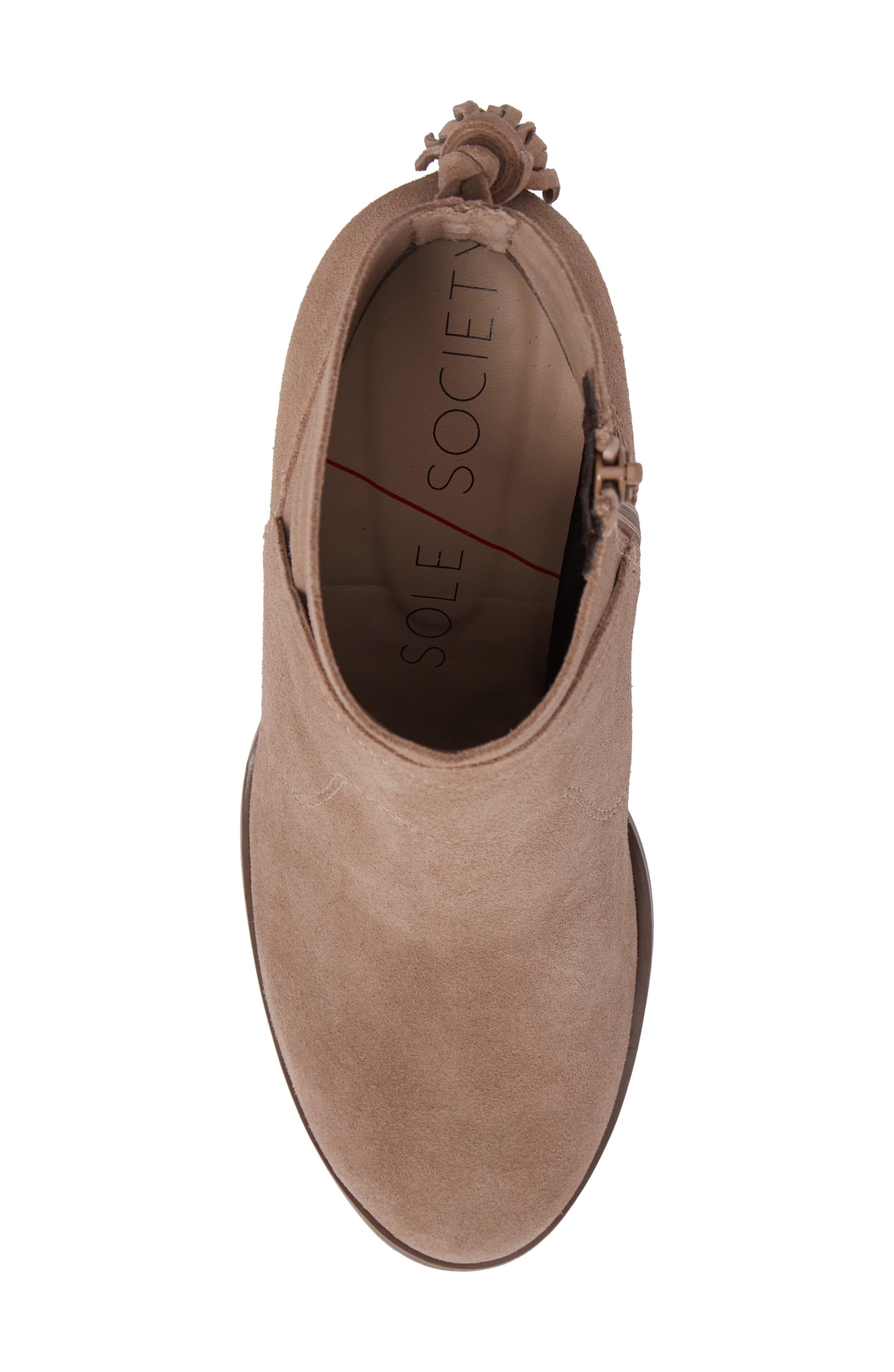 Ambrose Bootie,                             Alternate thumbnail 5, color,                             Taupe
