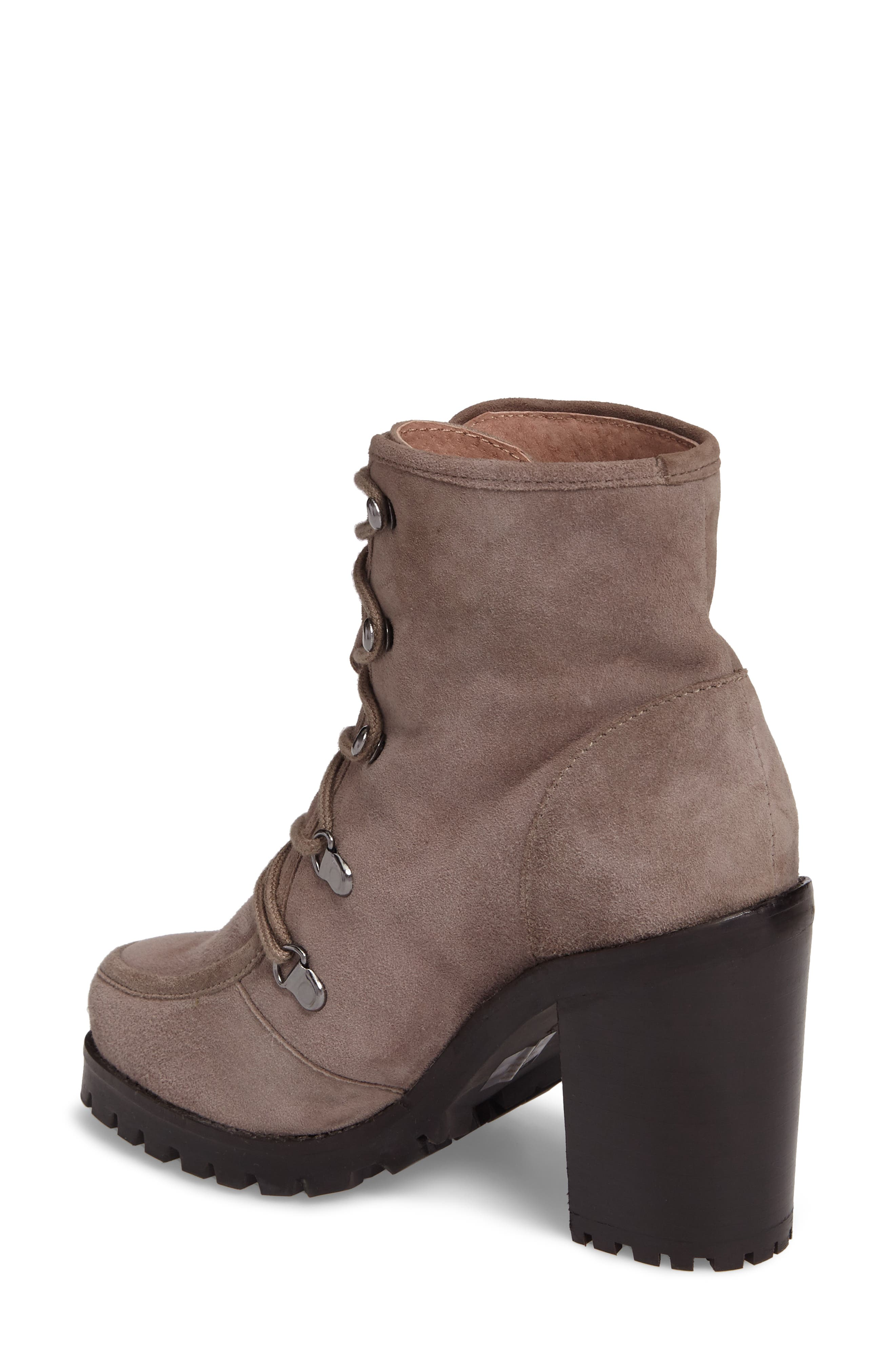 Theater Lace-Up Bootie,                             Alternate thumbnail 2, color,                             Taupe Suede