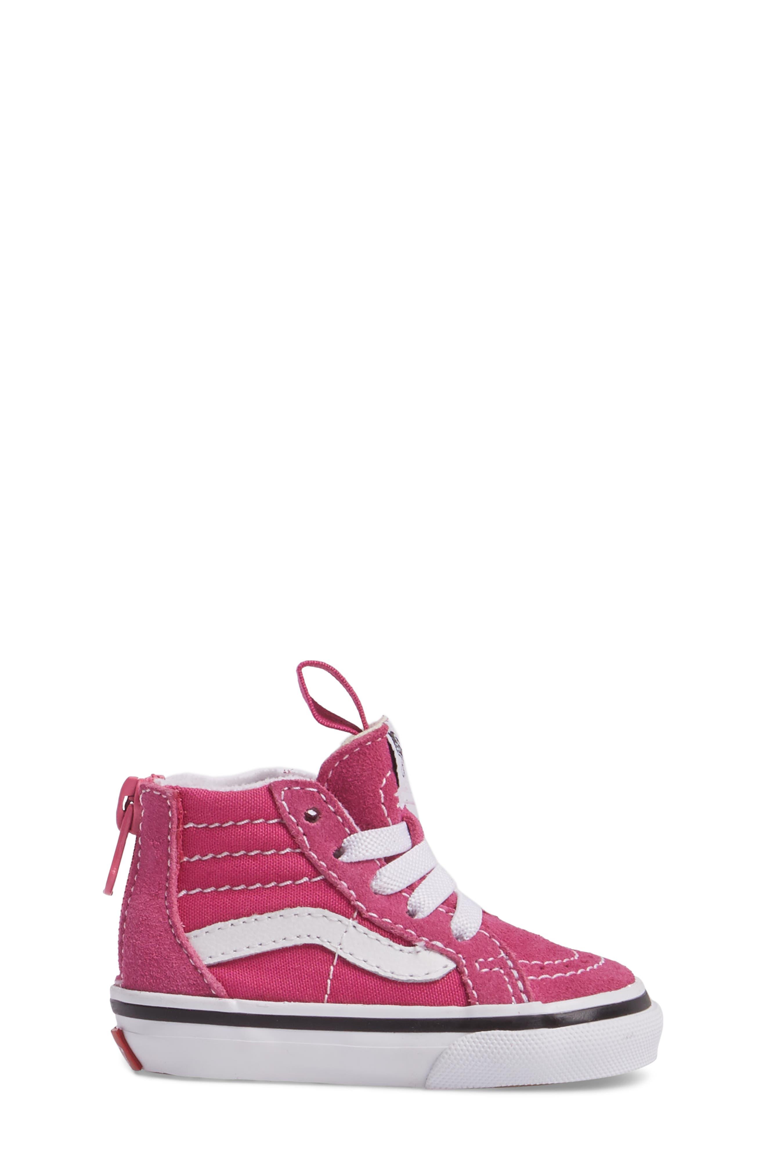 Alternate Image 3  - Vans Sk8-Hi Zip Sneaker (Baby, Walker, Toddler, Little Kid & Big Kid)
