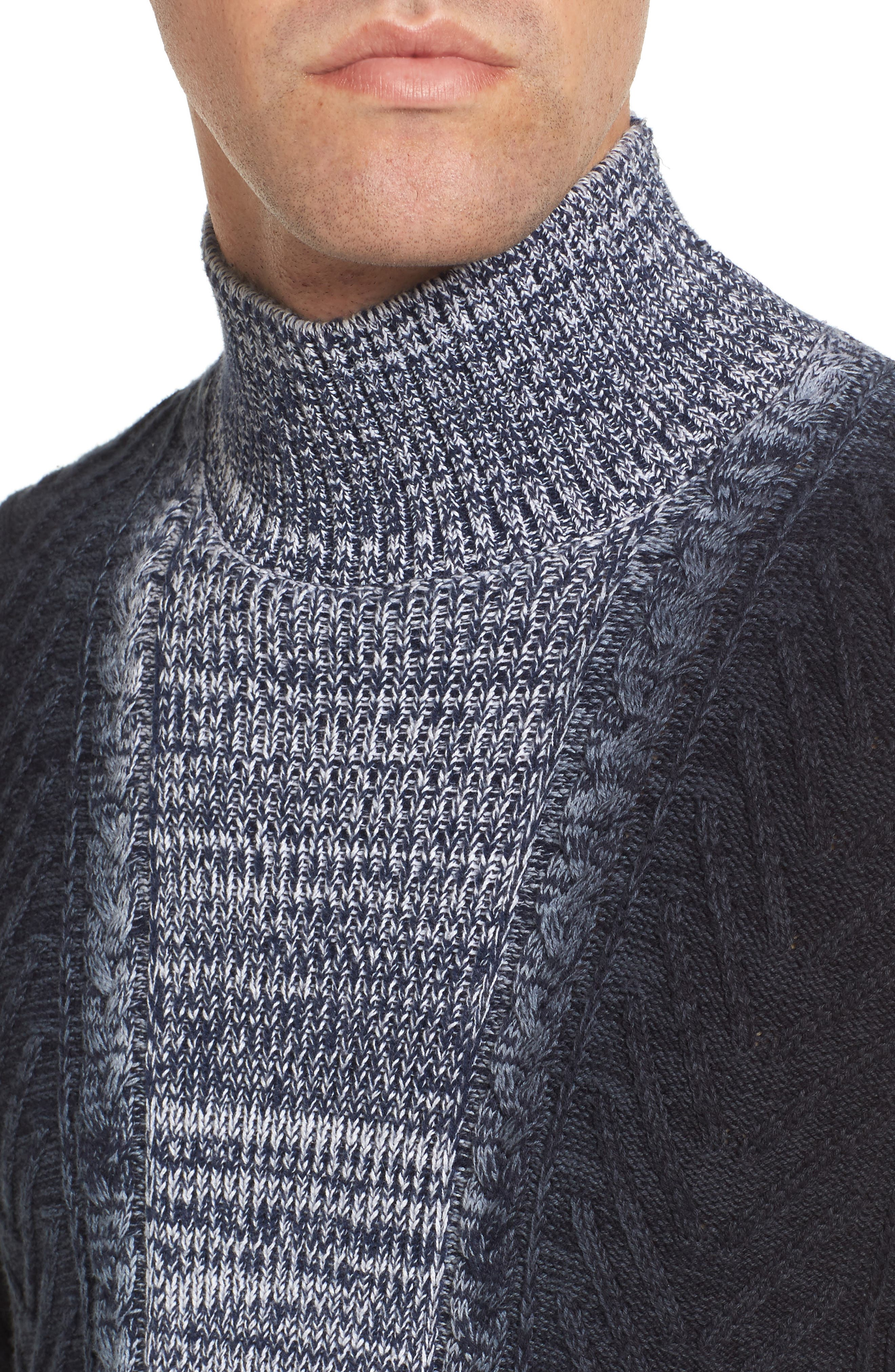 Alternate Image 4  - Vince Camuto Gradient Fade Turtleneck Sweater