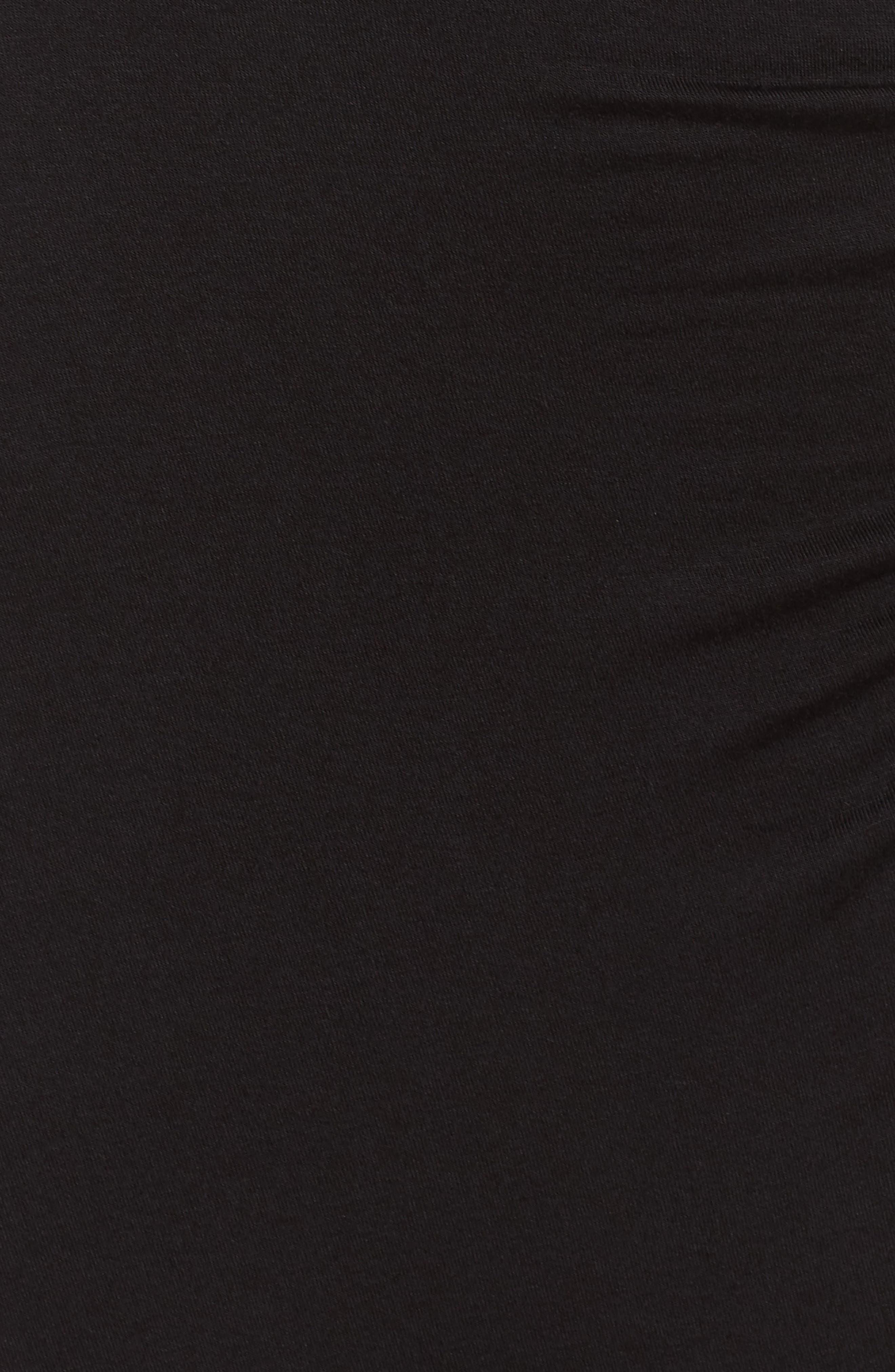 Knit Tulip Hem Dress,                             Alternate thumbnail 5, color,                             Black