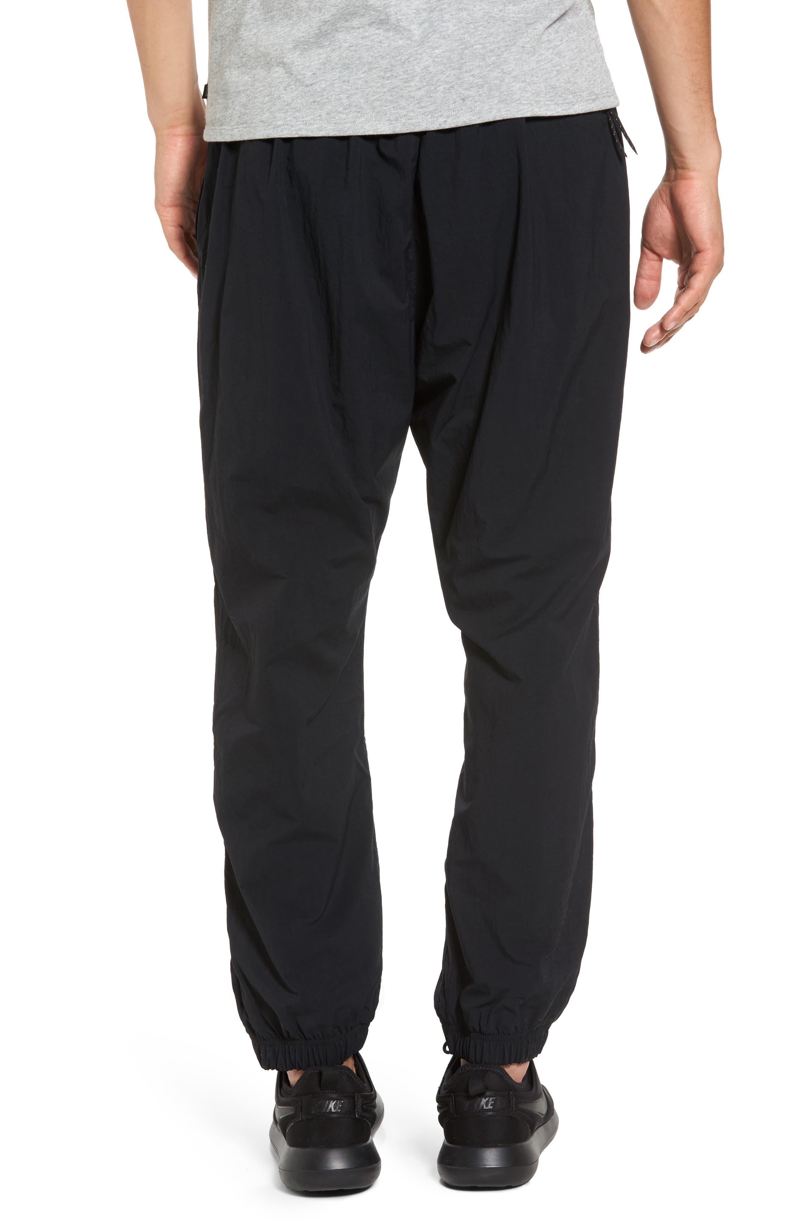 Flex Woven Pants,                             Alternate thumbnail 2, color,                             Black/ White
