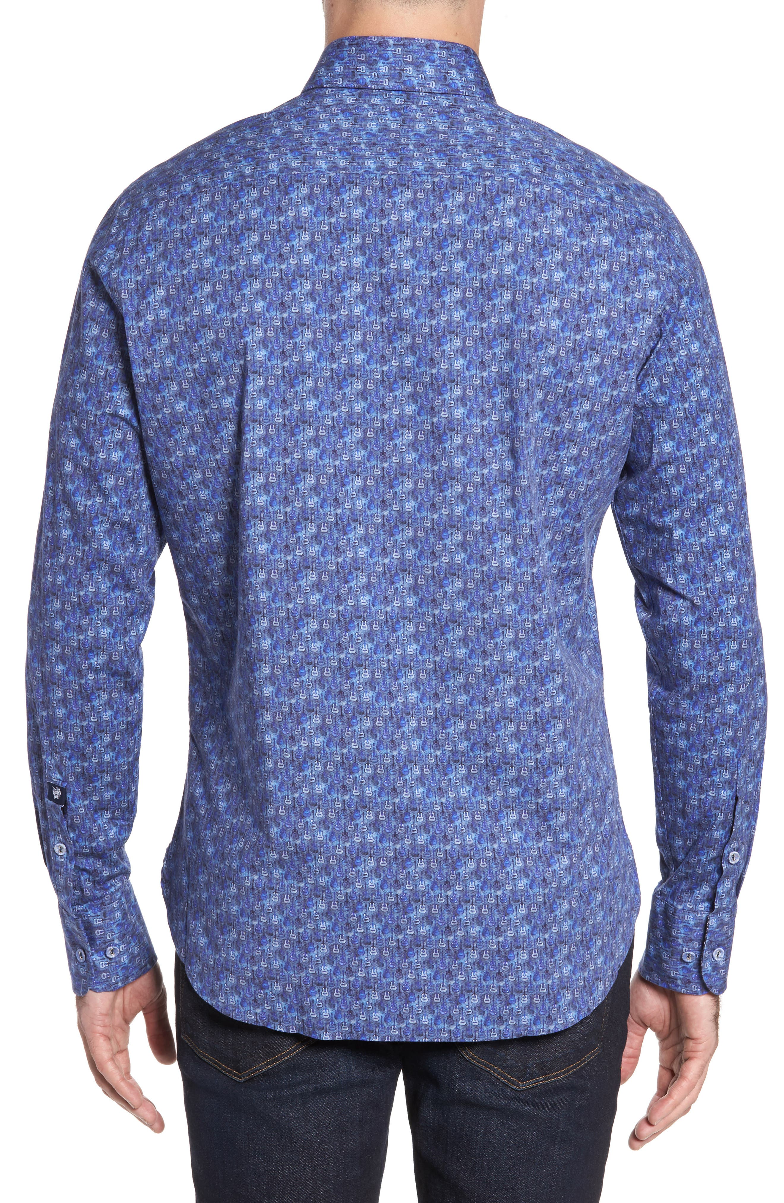 Alternate Image 2  - Stone Rose Slim Fit Guitare FX Sport Shirt