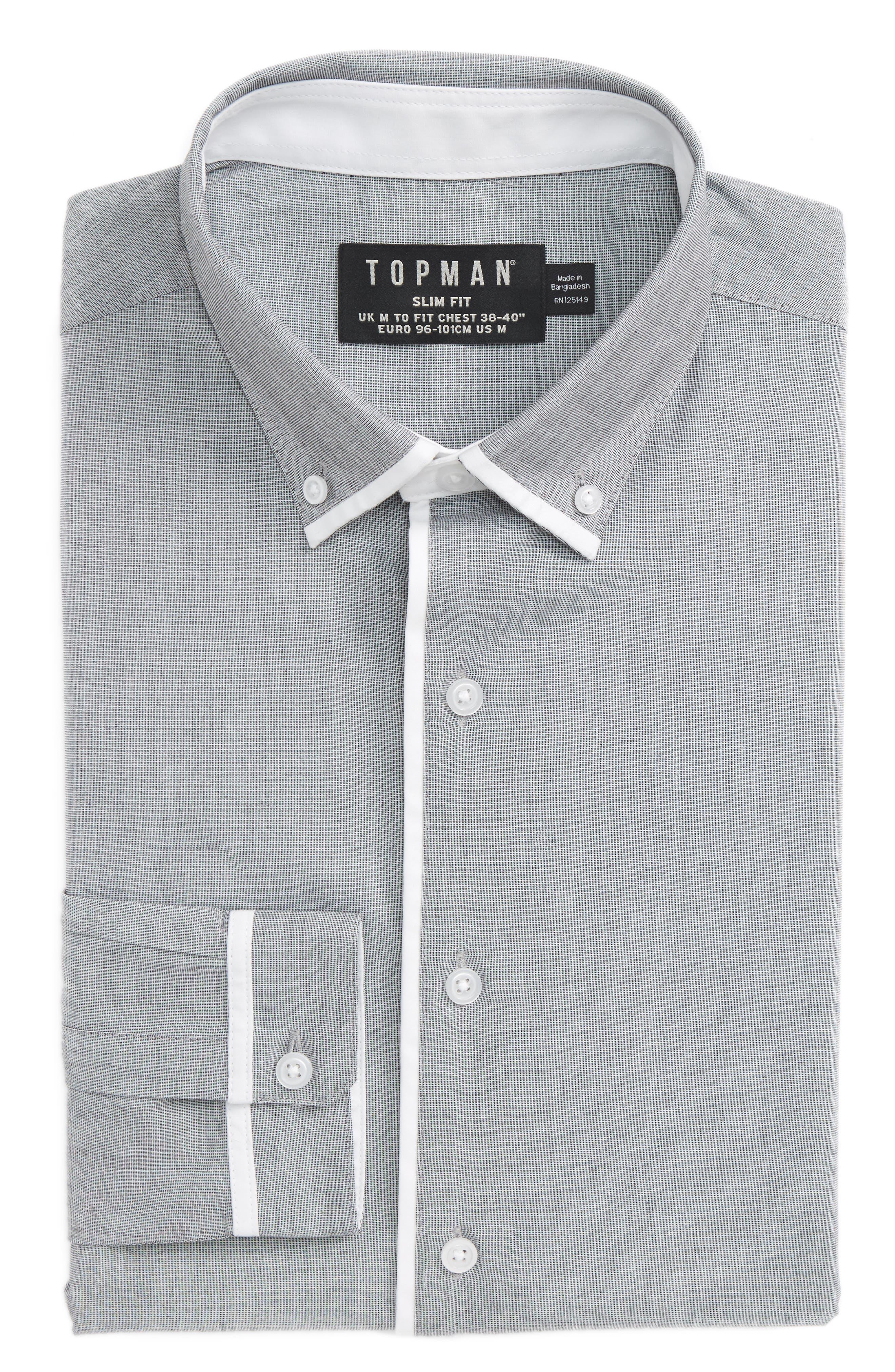 Main Image - Topman Leeson Slim Fit Smart Shirt