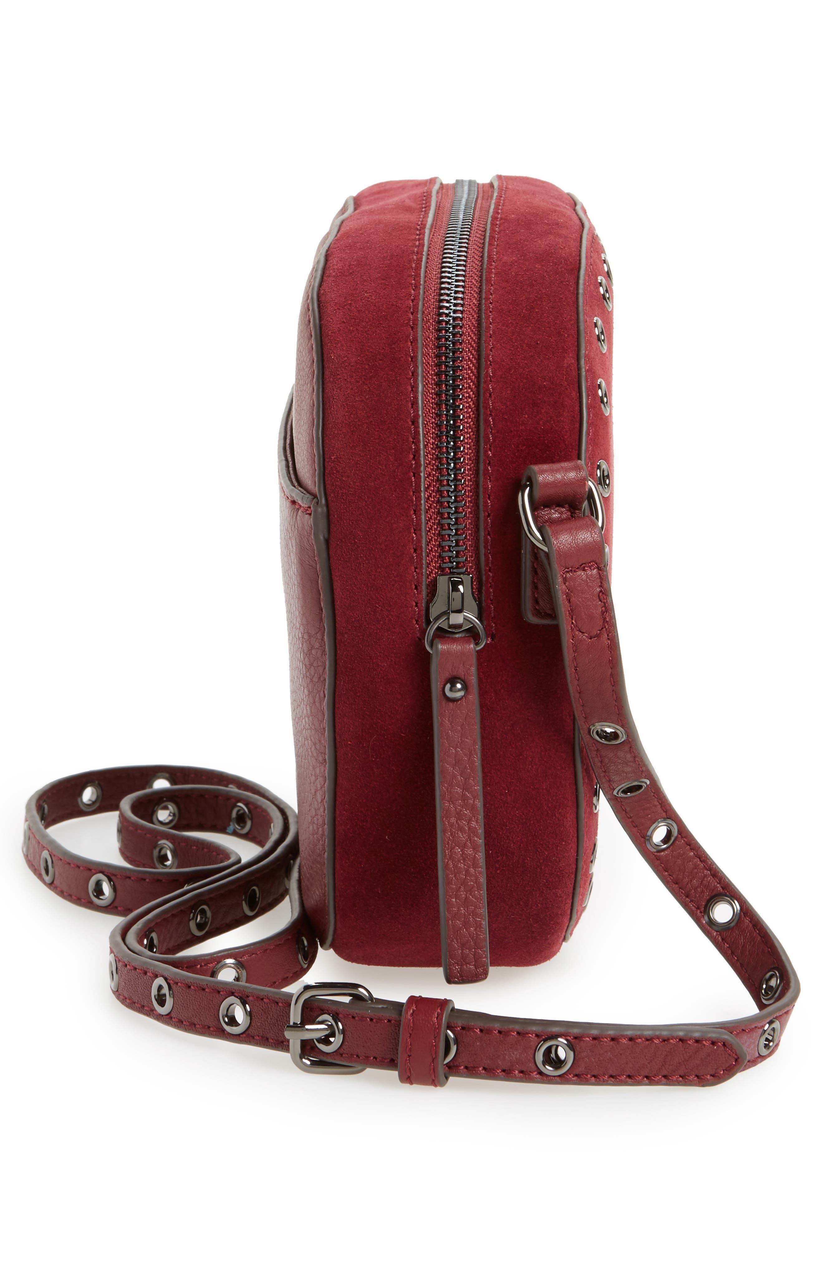 Alternate Image 4  - Vince Camuto Areli Suede & Leather Crossbody Bag