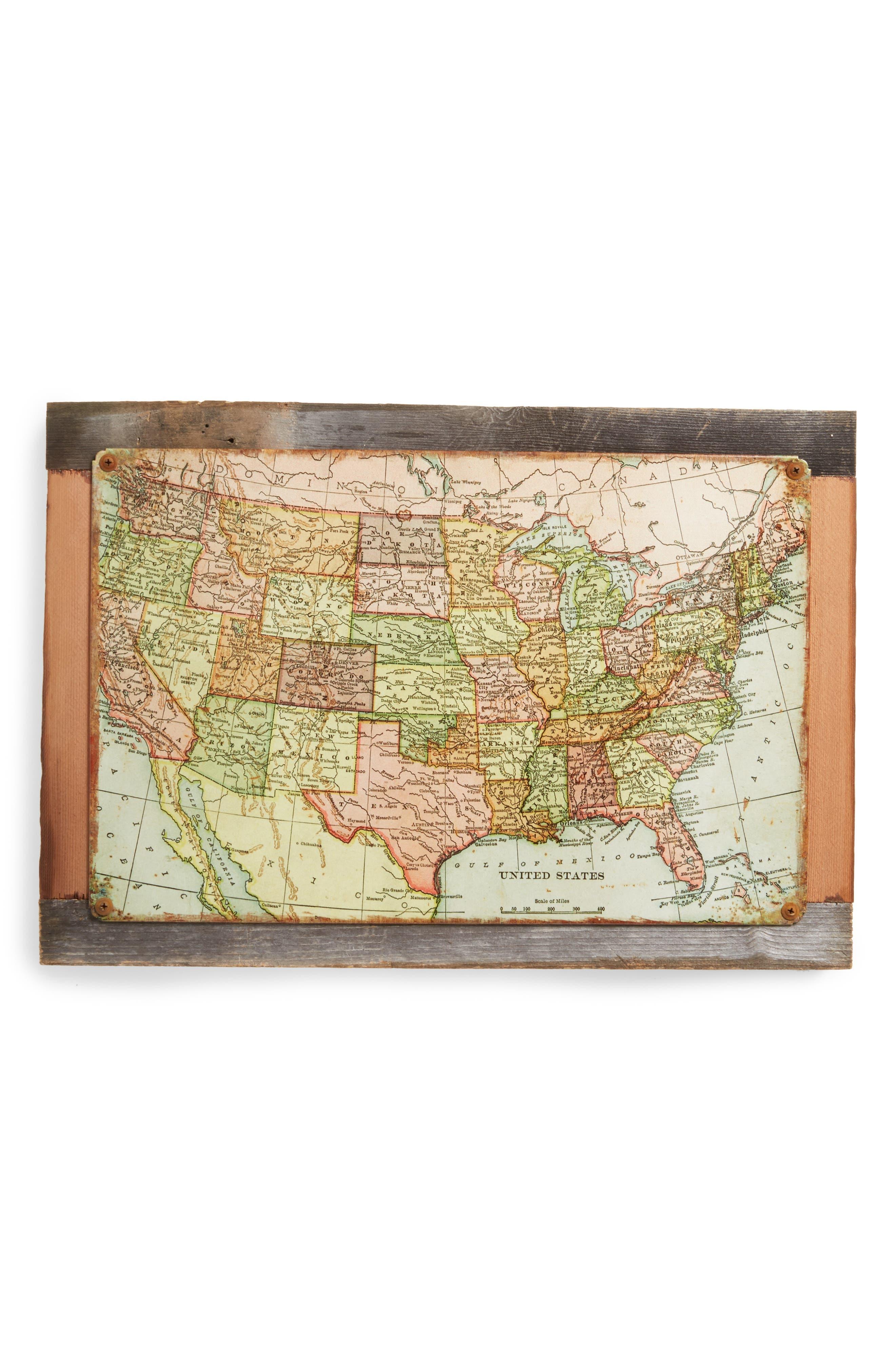 Poncho & Goldstein U.S. Map Wall Art