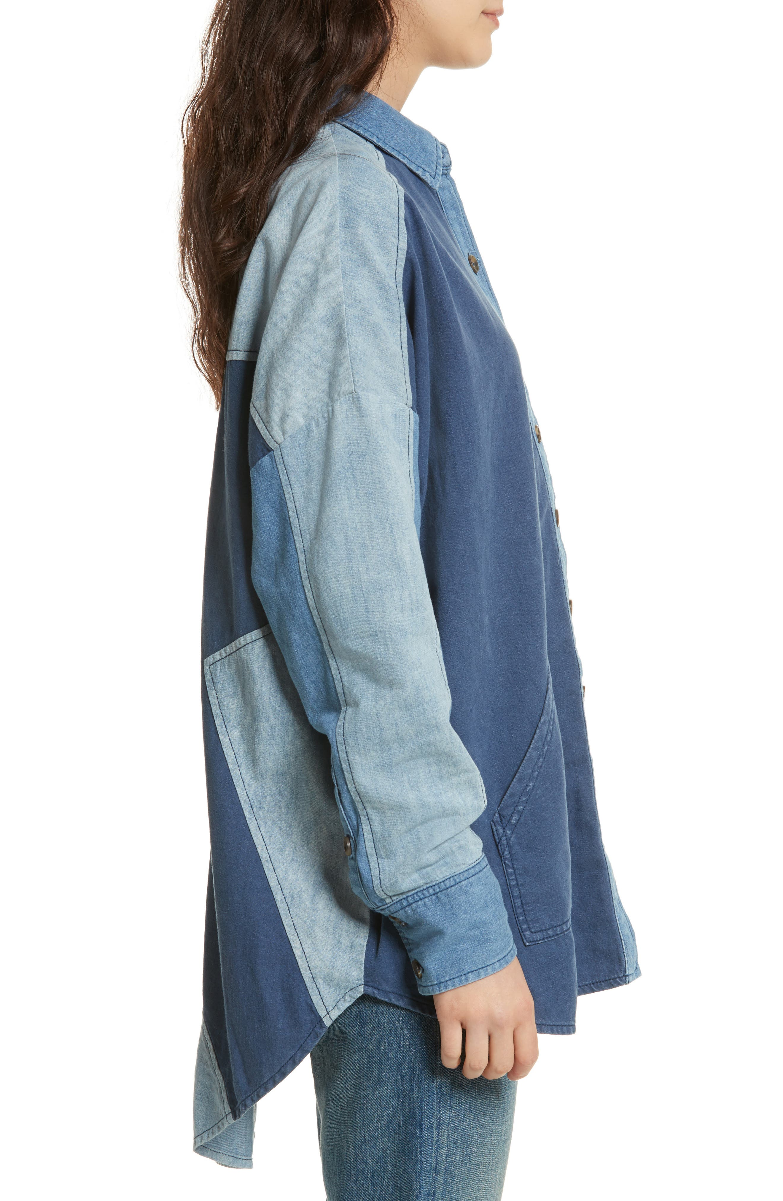Alternate Image 3  - Free People Superstar Chambray Shirt