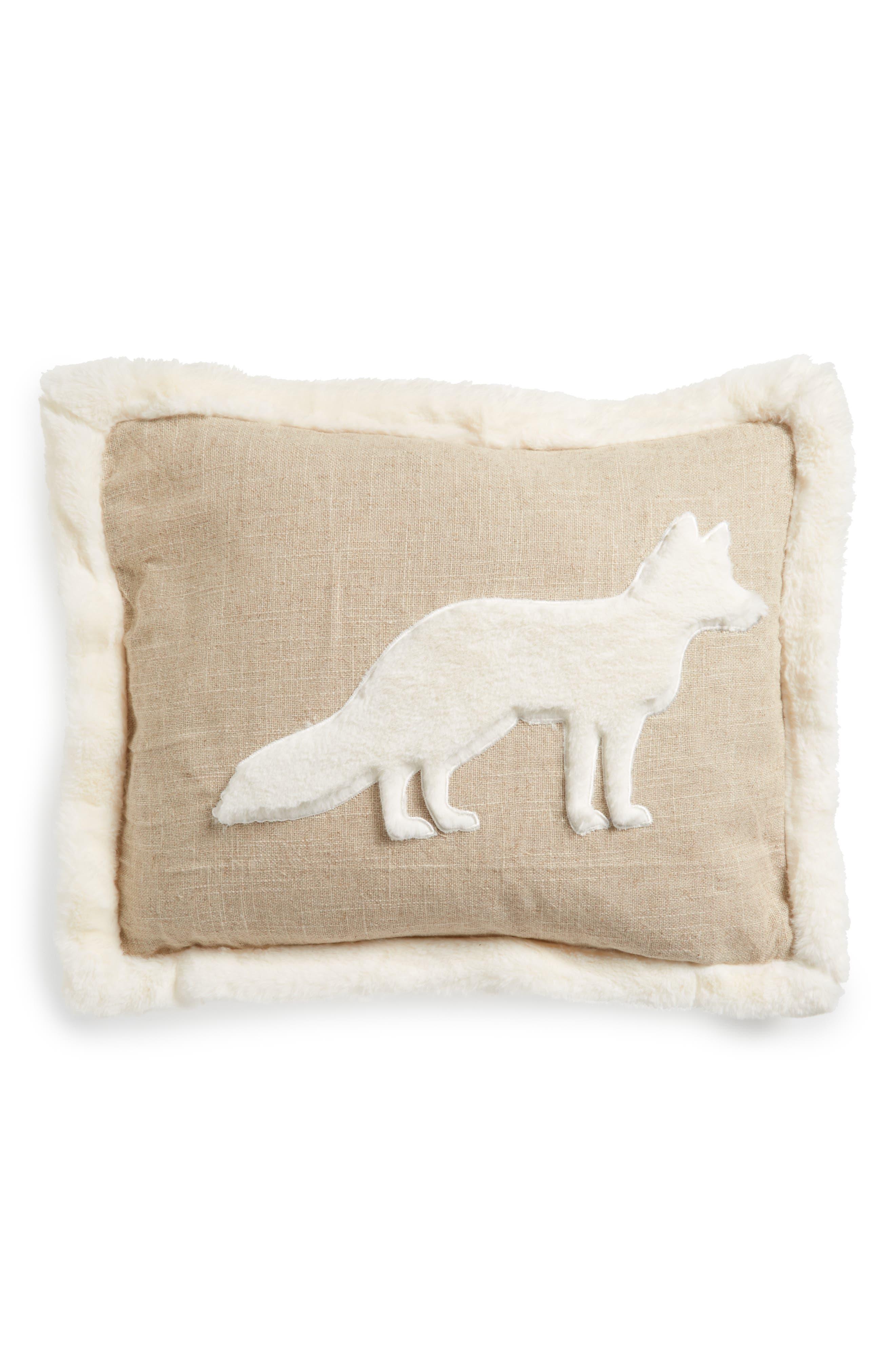 Levtex Fleece Fox Pillow