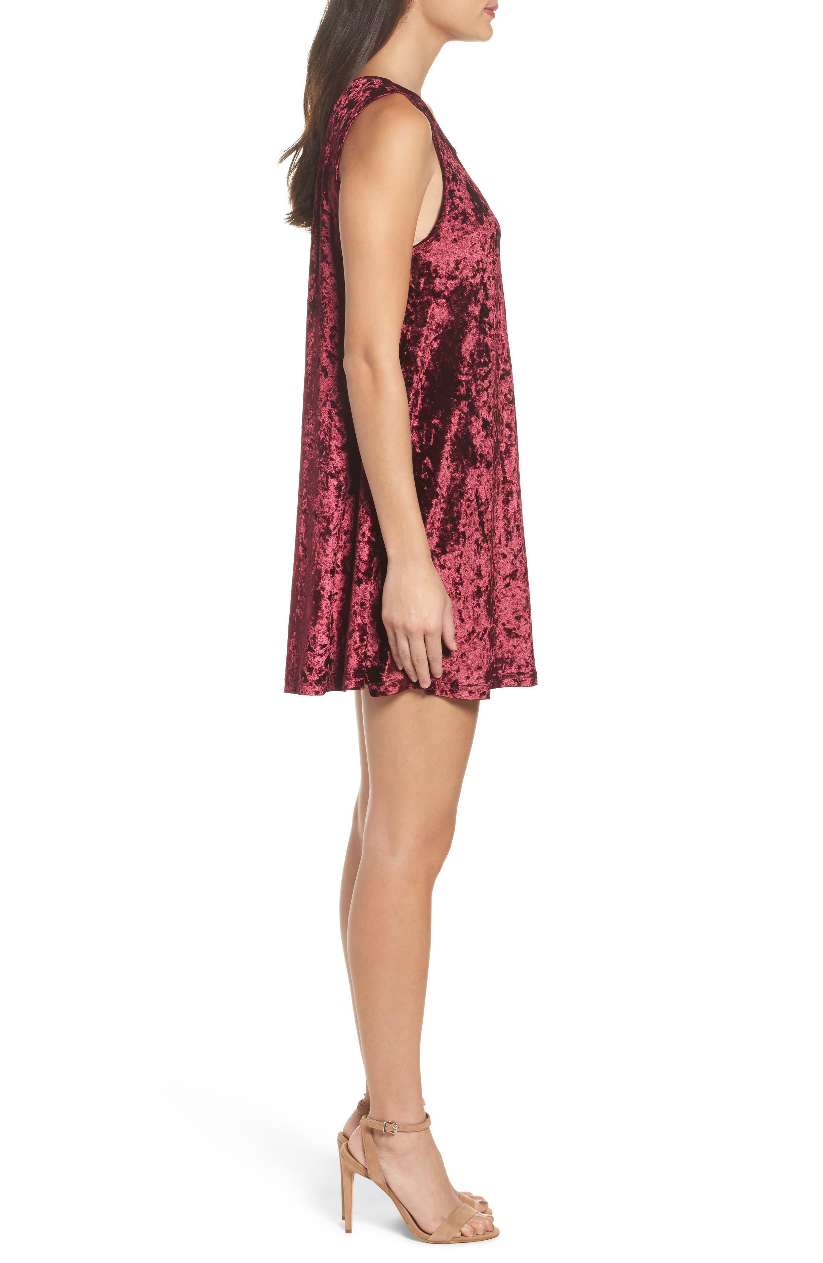 Alternate Image 3  - BB Dakota Crushed Velvet Shift Dress