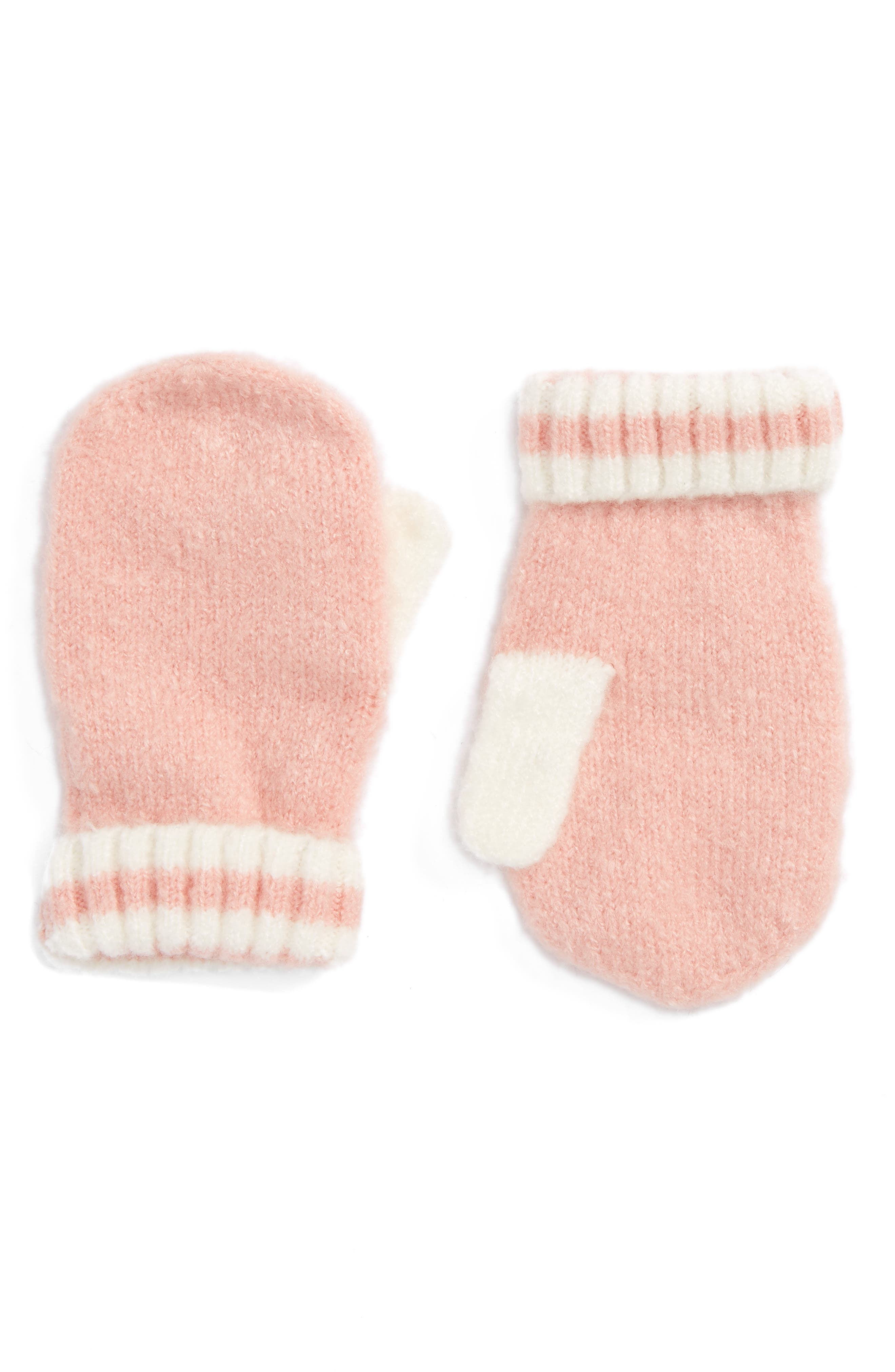 Alternate Image 1 Selected - Tucker + Tate Stripe Cuff Mittens (Toddler)