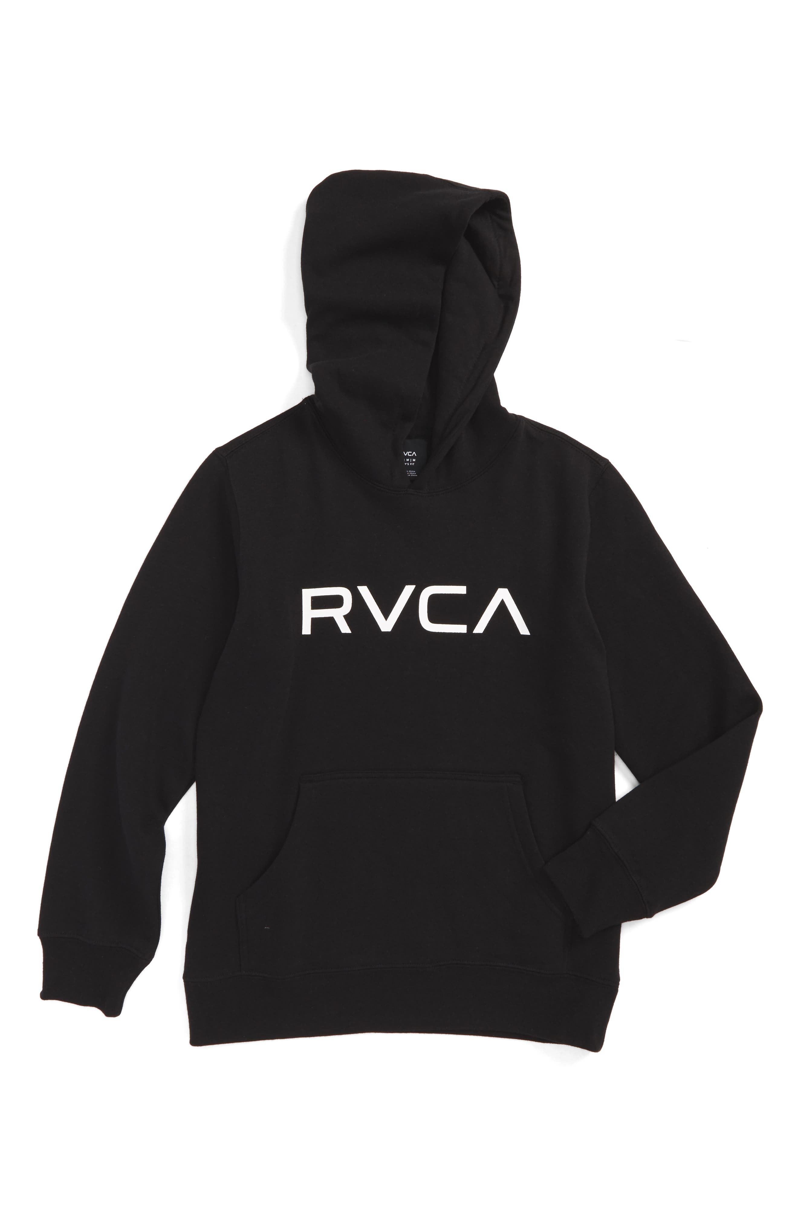 Alternate Image 1 Selected - RVCA Big Logo Hoodie (Big Boys)