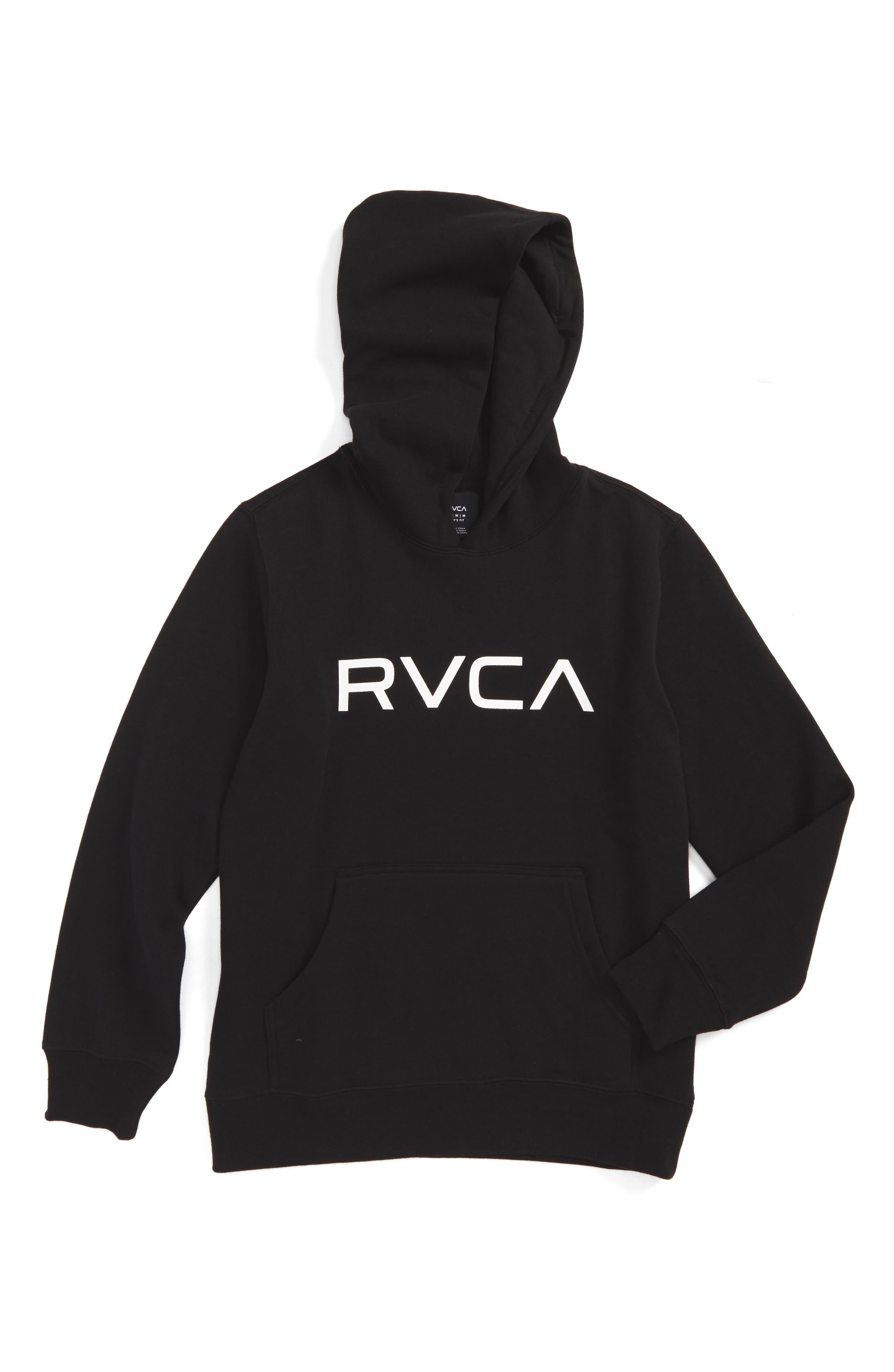 Main Image - RVCA Big Logo Hoodie (Big Boys)