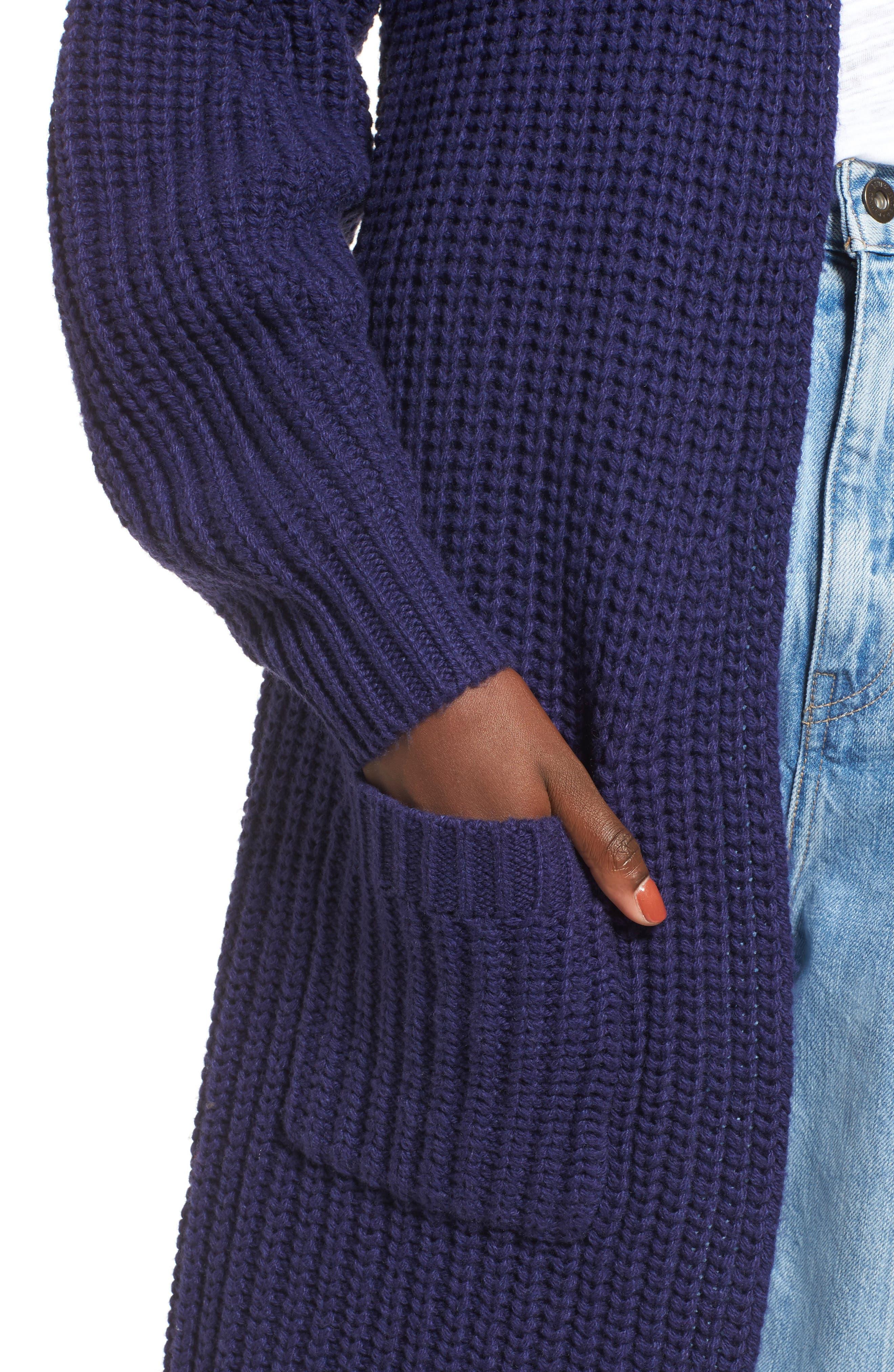 Alternate Image 4  - BP. Shaped Sleeve Longline Cardigan