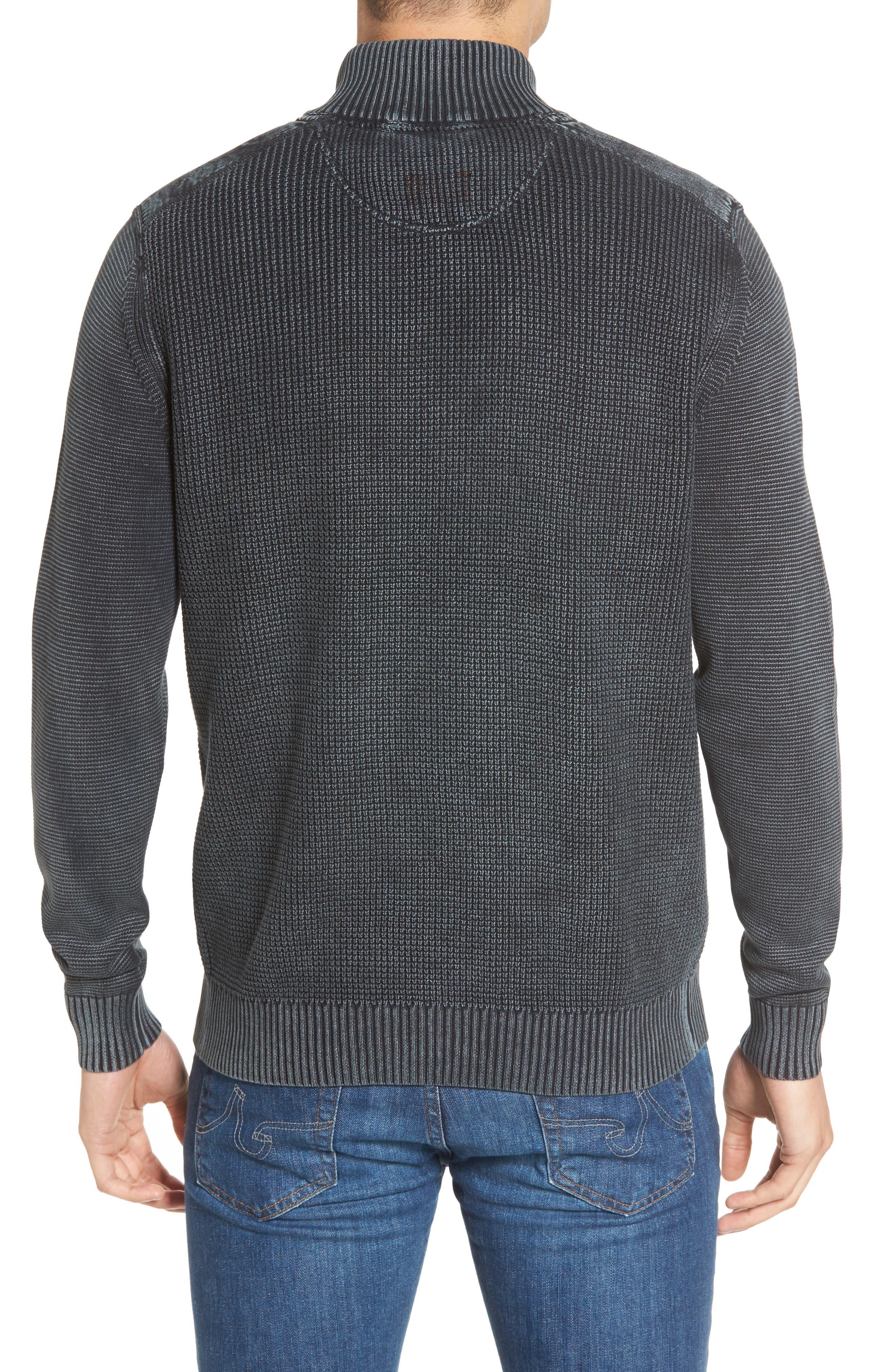 Alternate Image 2  - Tommy Bahama Coastal Shores Quarter Zip Sweater