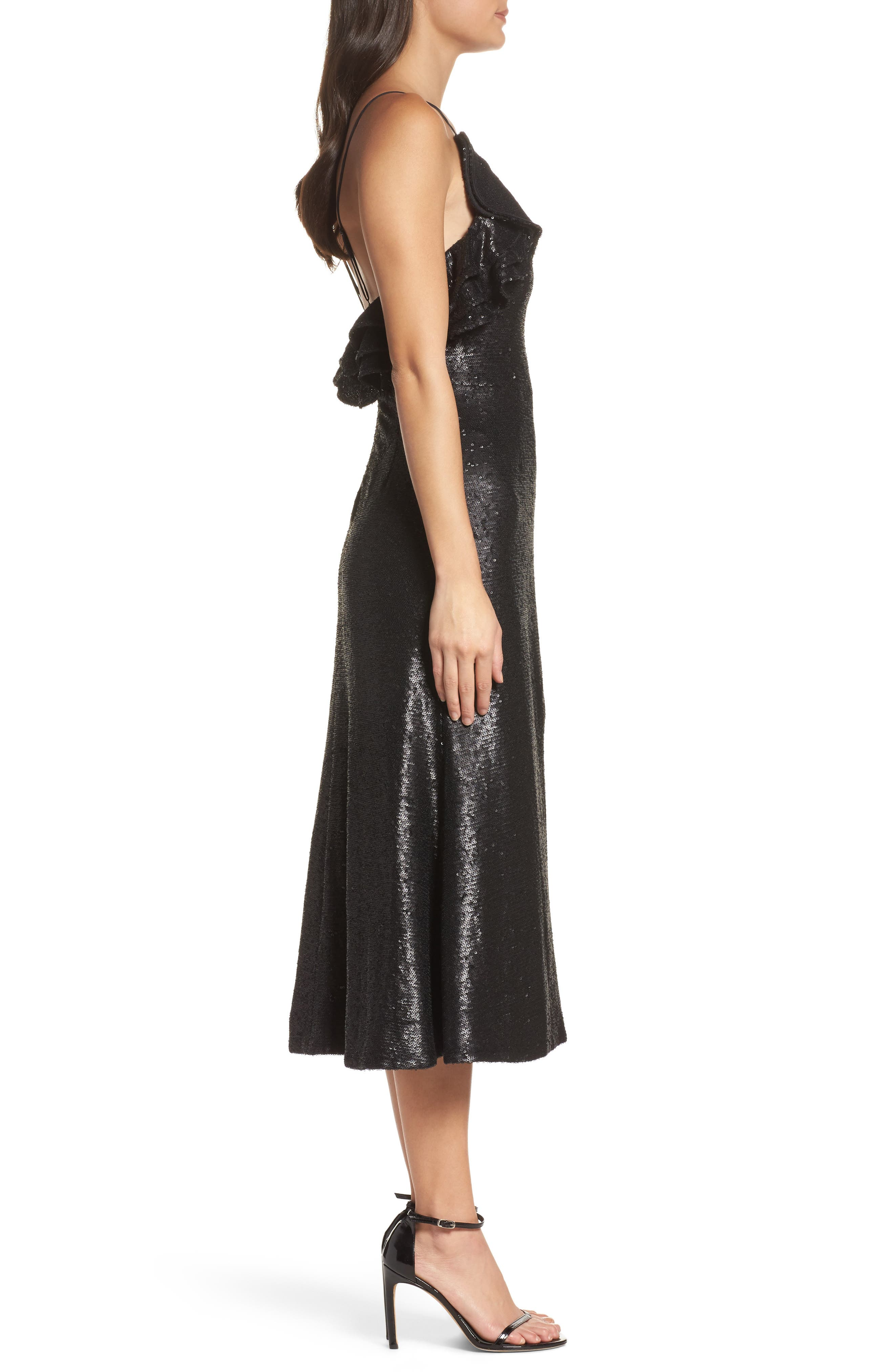 Alternate Image 4  - C/MEO Collective Illuminated Sequin Ruffle Midi Dress (Nordstrom Exclusive)