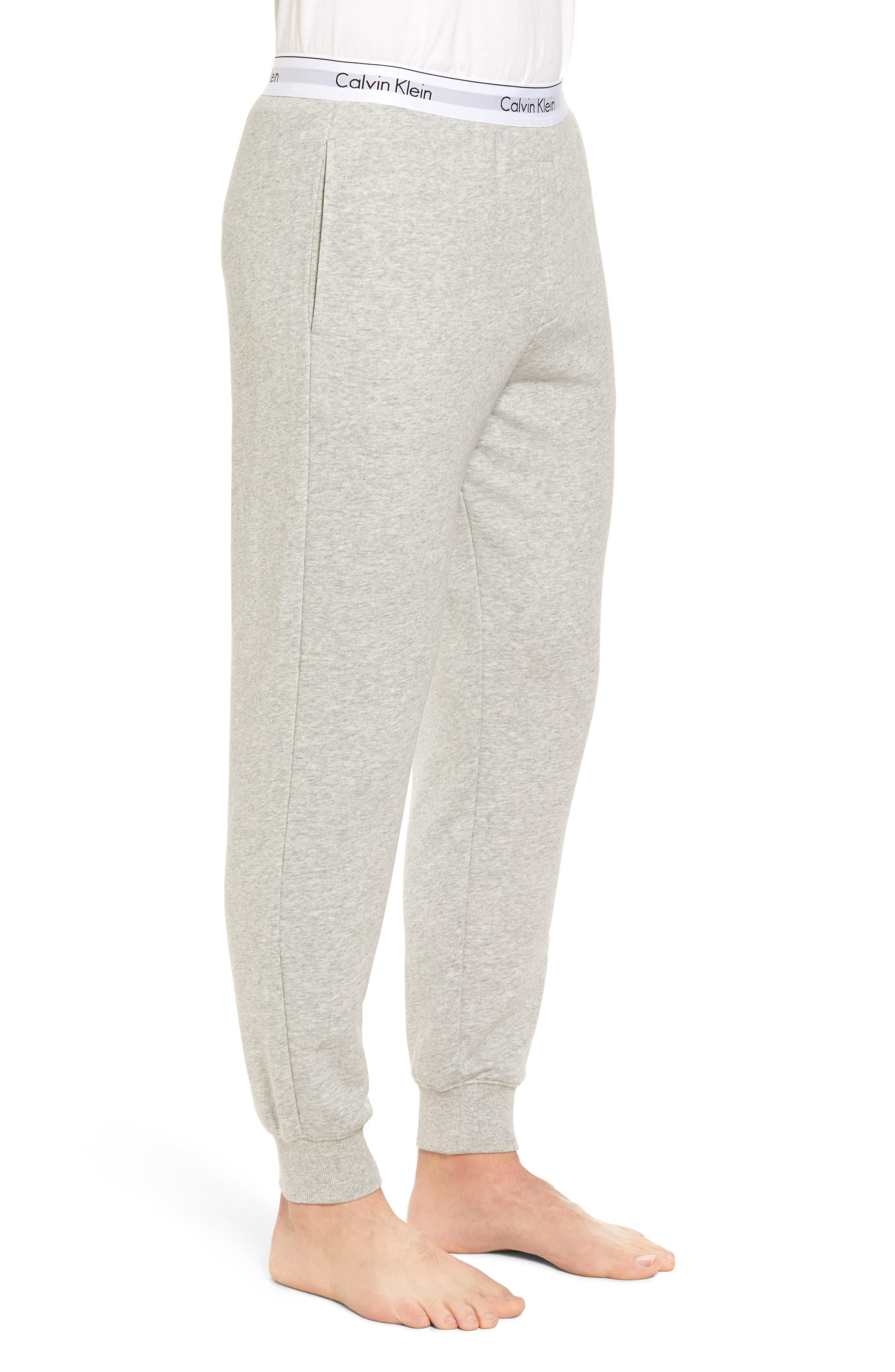 Modern Cotton Blend Lounge Pants,                             Alternate thumbnail 3, color,                             Grey Heather