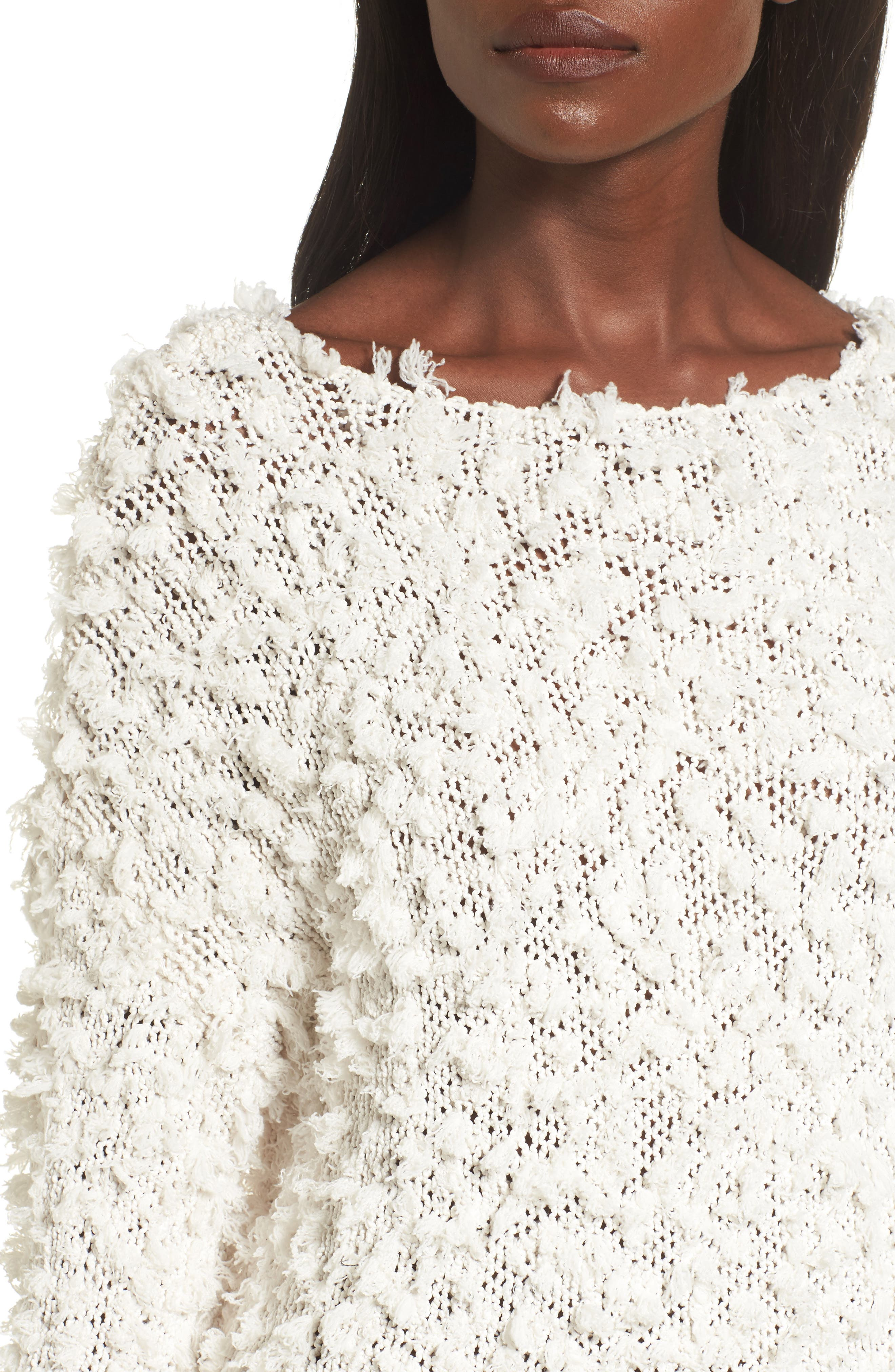 Alternate Image 5  - MOON RIVER Nubby Boatneck Sweater
