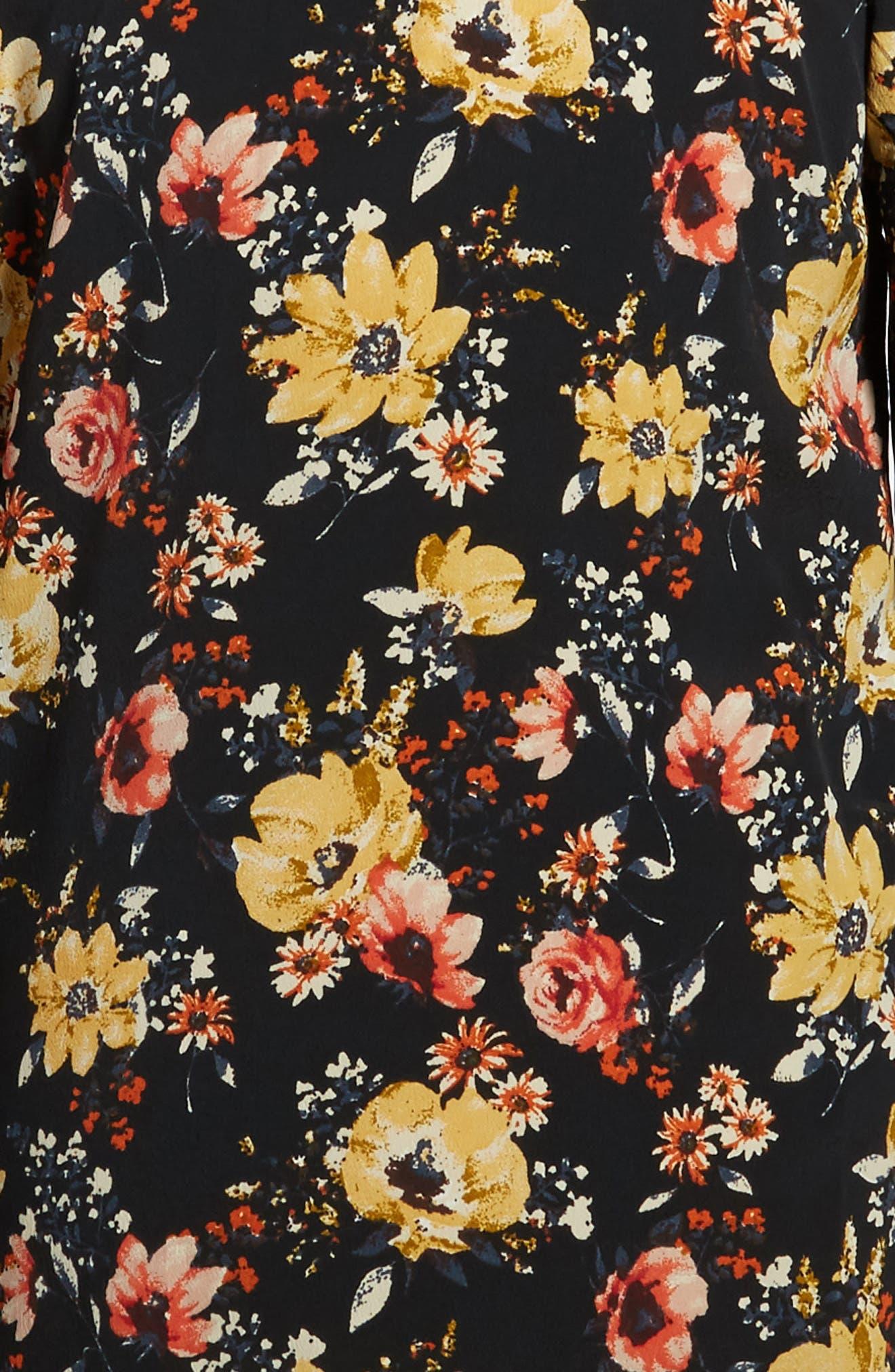 Alternate Image 3  - Zoe and Rose Floral Print Cold Shoulder Dress (Big Girls)