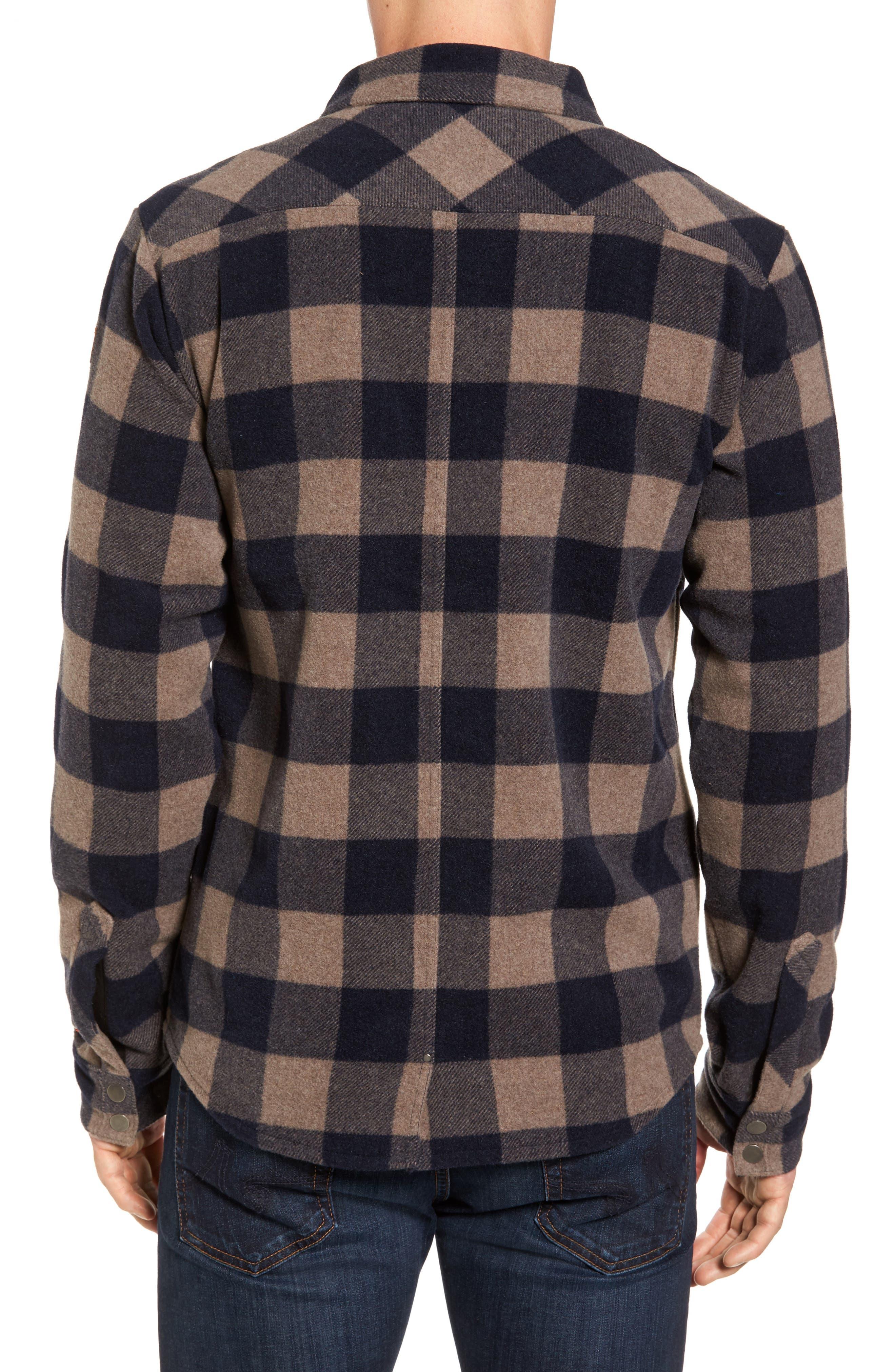 Anchor Line Flannel Shirt Jacket,                             Alternate thumbnail 2, color,                             Navy