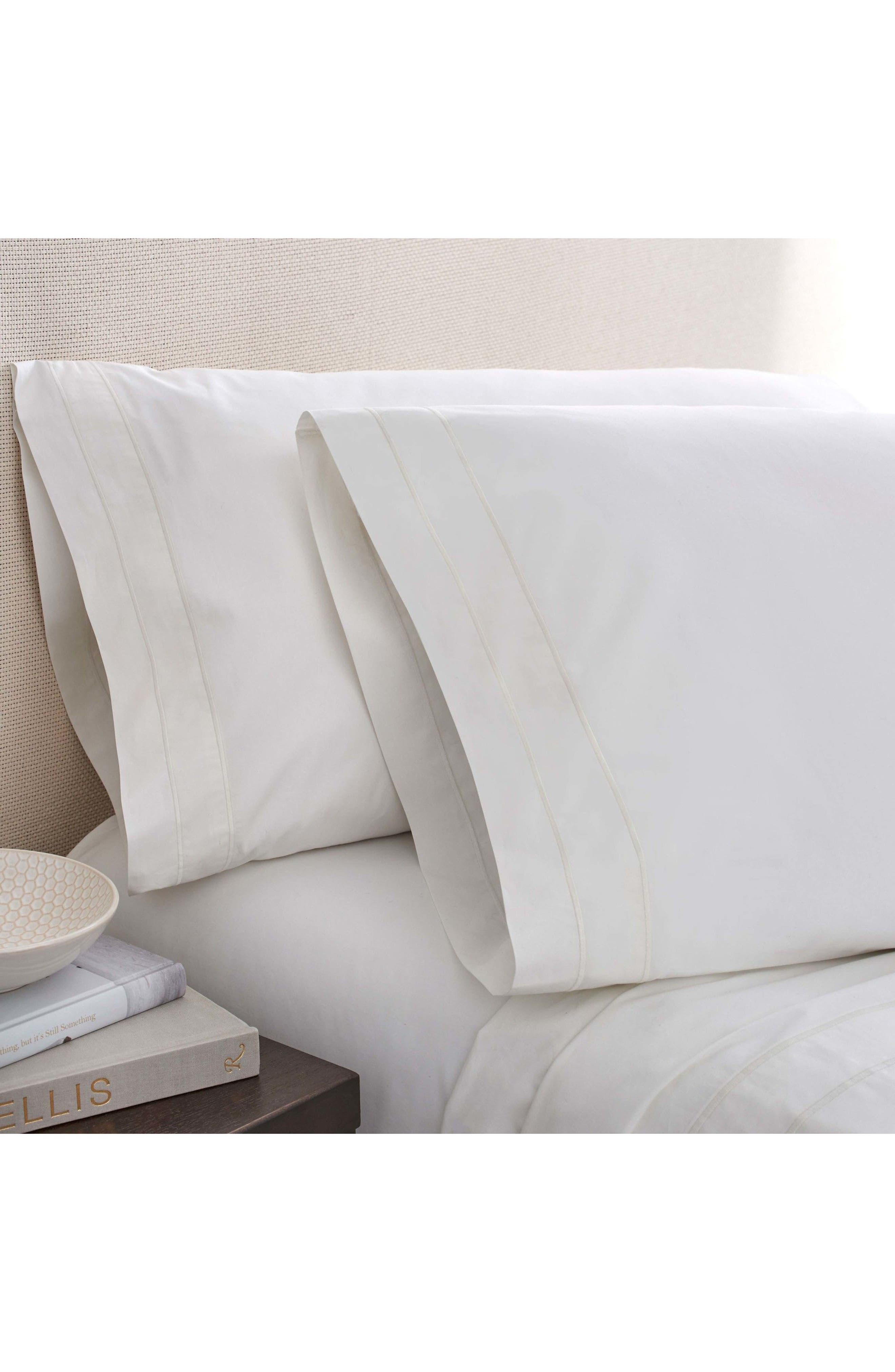 The Denizen Organic Cotton Fitted Sheet,                             Main thumbnail 1, color,                             Cloud