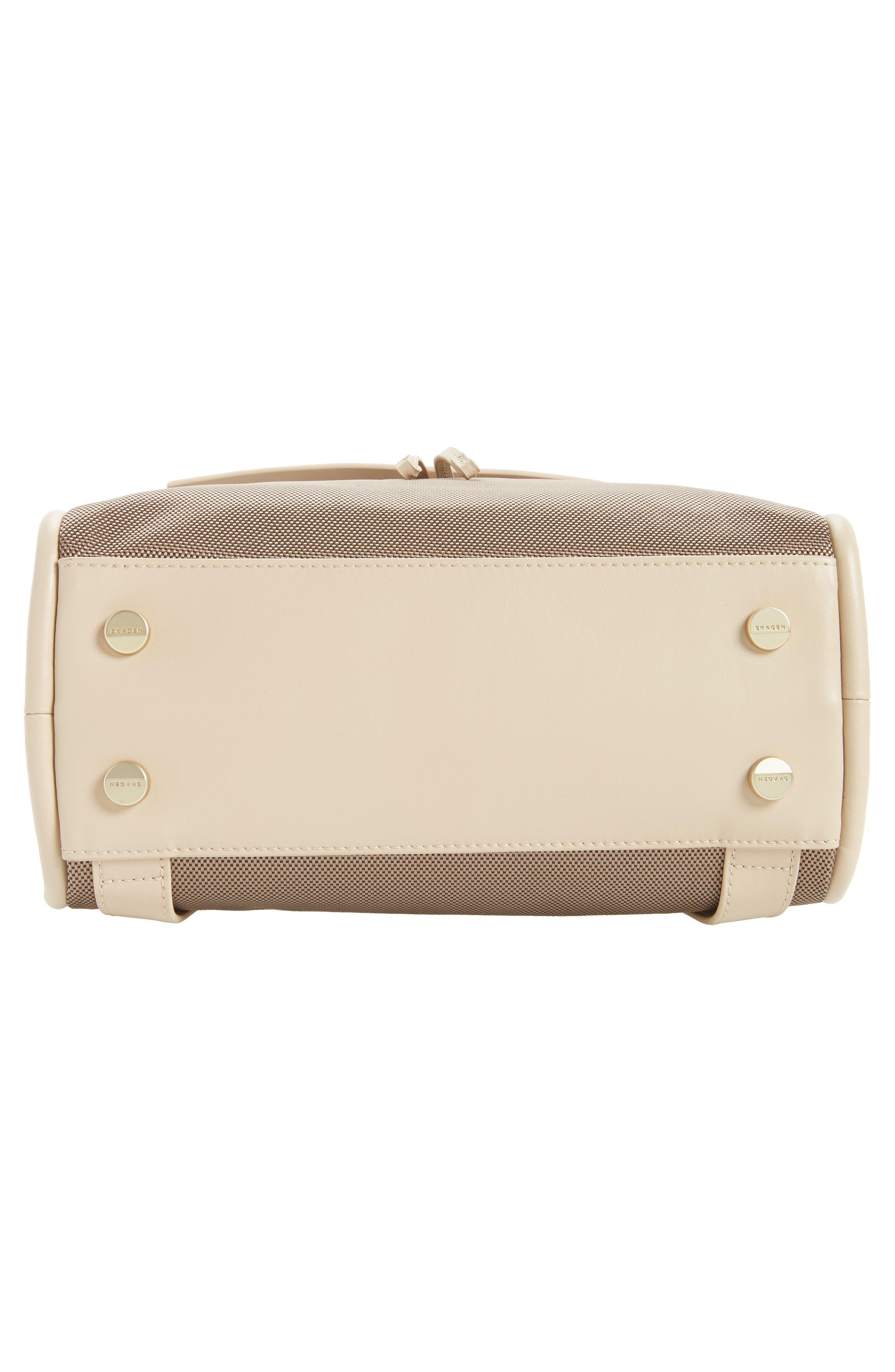 Alternate Image 5  - Skagen Ebba Leather & Canvas Backpack