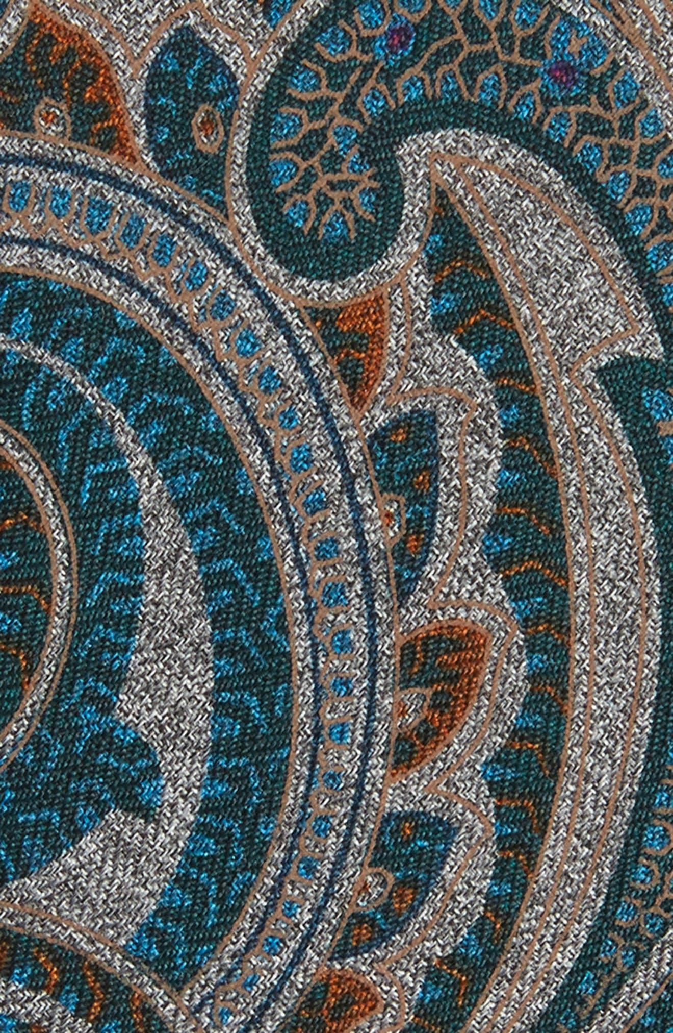 Mélange Paisley Tie,                             Alternate thumbnail 2, color,                             Rust