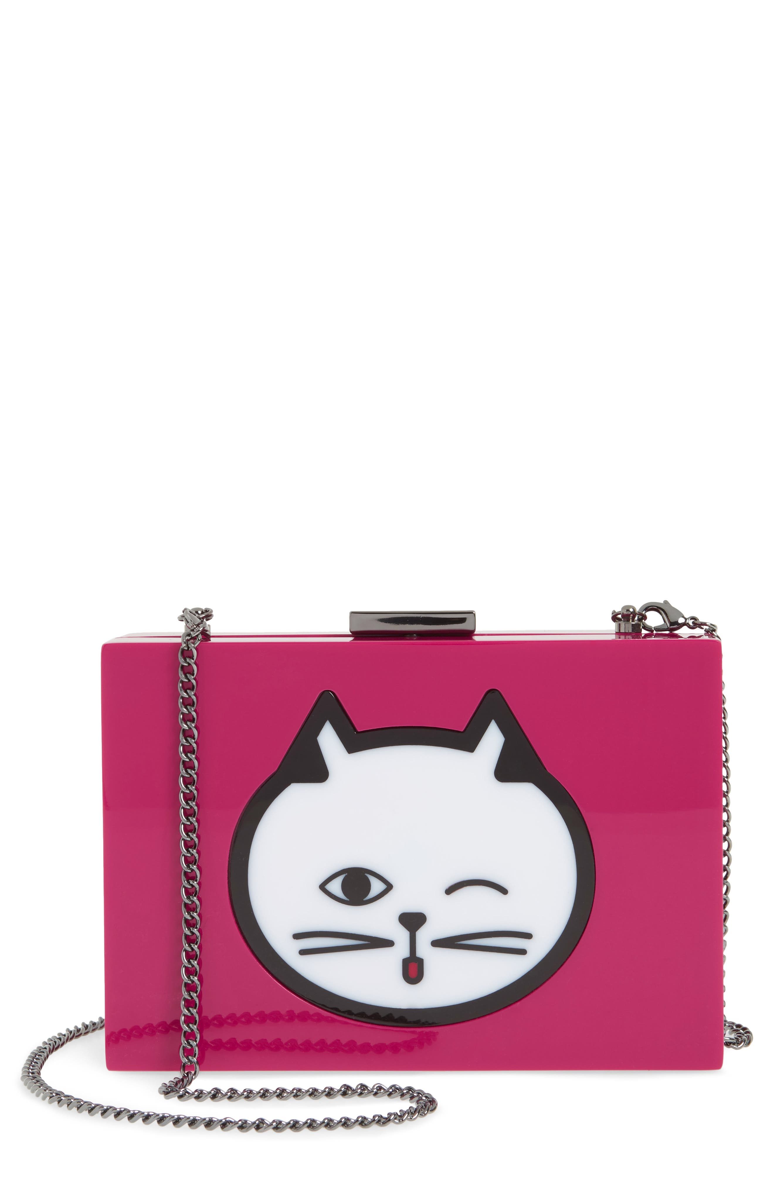 Main Image - Nordstrom Cat Expressions Box Clutch