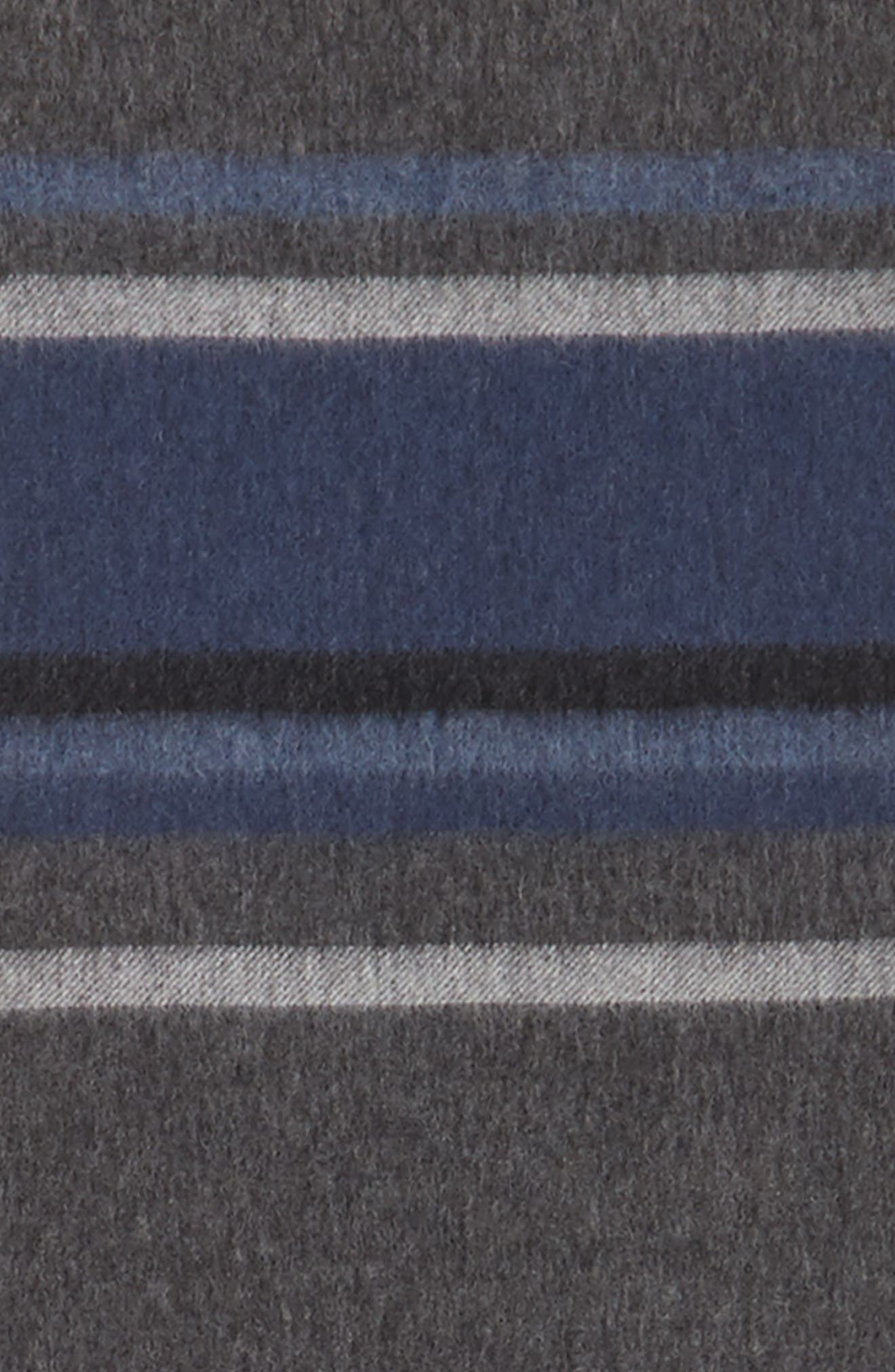 Alternate Image 3  - Nordstrom Men's Shop Multistripe Lambswool Scarf