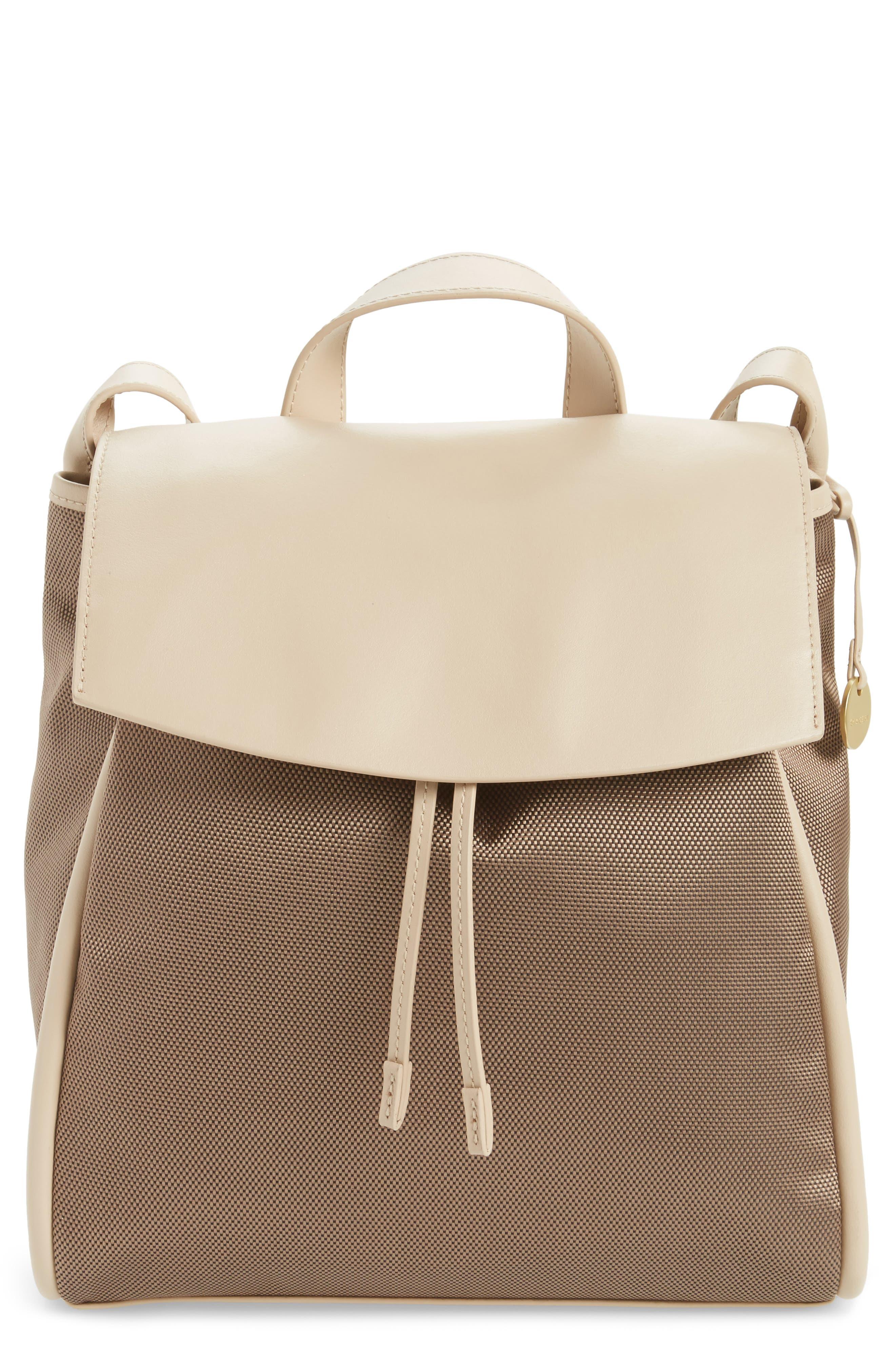 Skagen Ebba Leather & Canvas Backpack