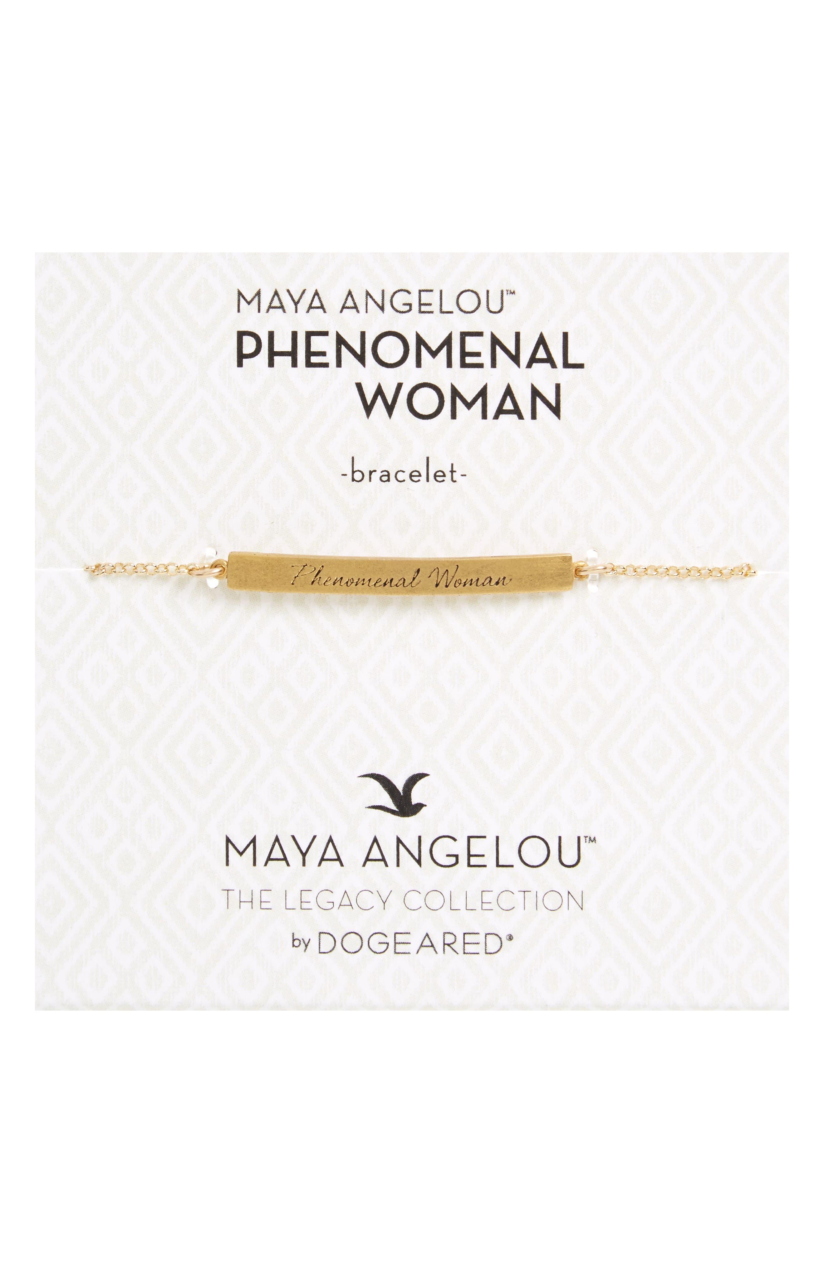 Legacy Collection - Phenomenal Women Bar Bracelet,                             Main thumbnail 1, color,                             Gold