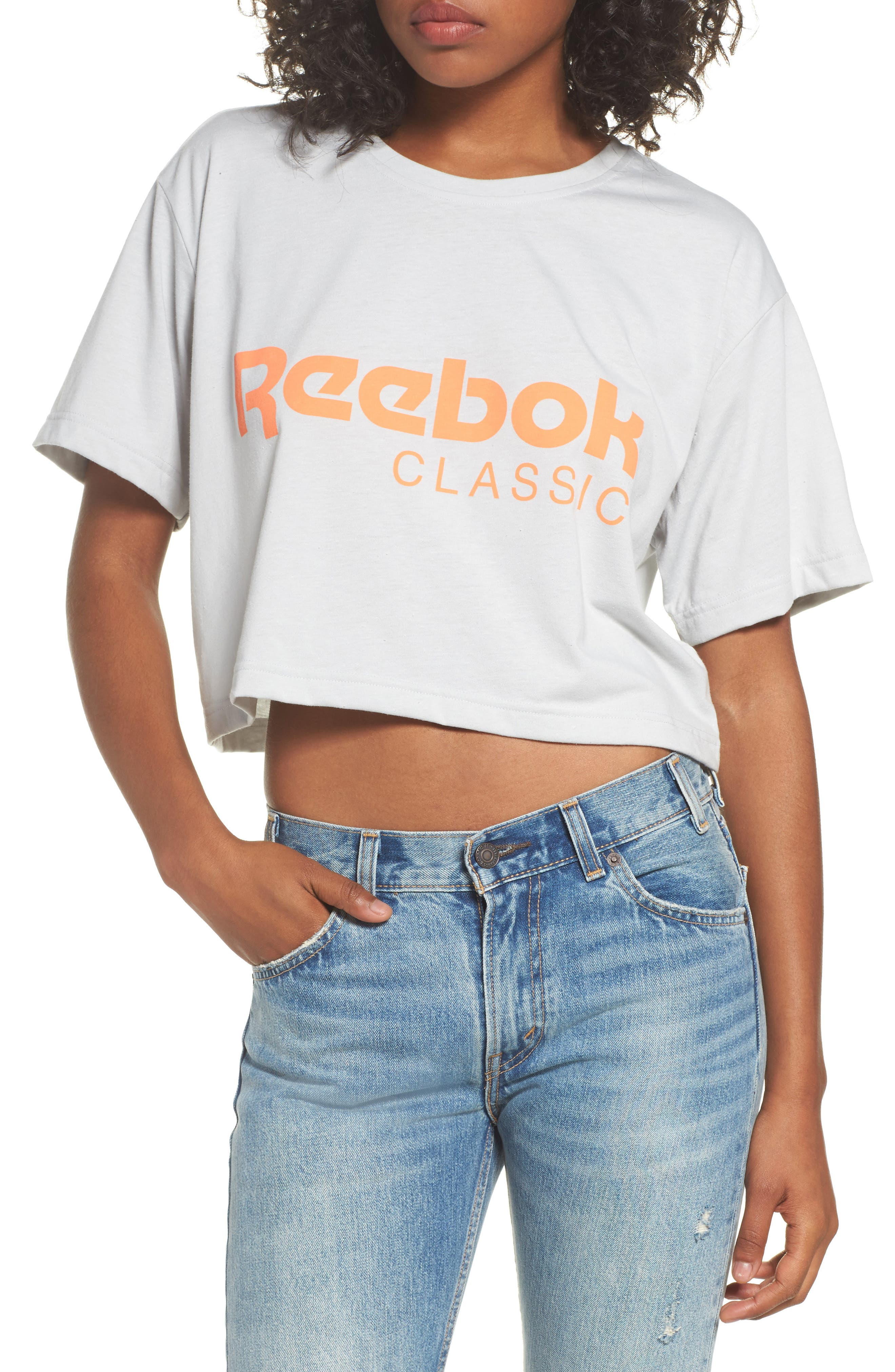 Reebok Logo Crop Tee