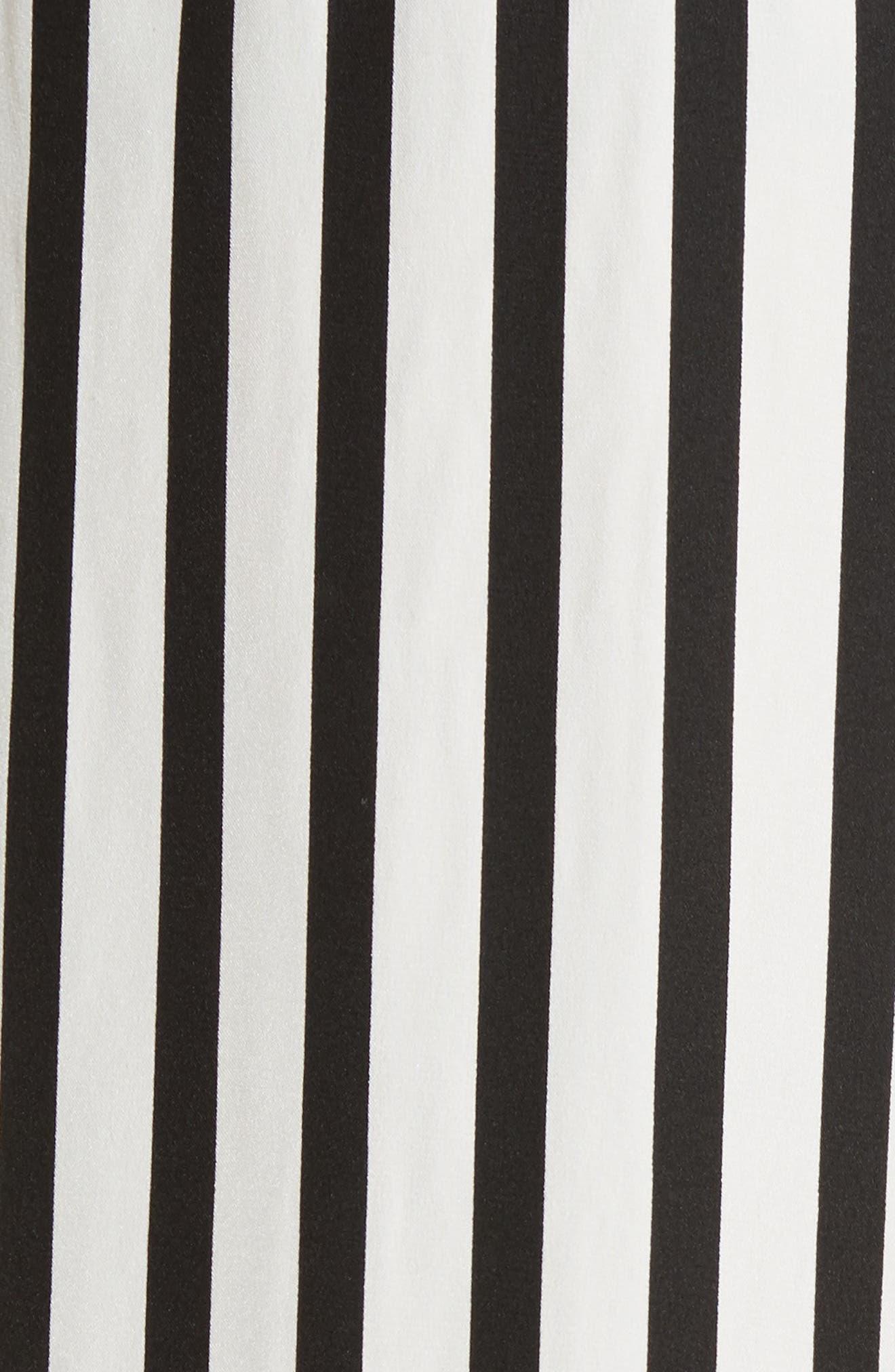 Stripe Wide Leg Silk Pants,                             Alternate thumbnail 6, color,                             Noir Multi